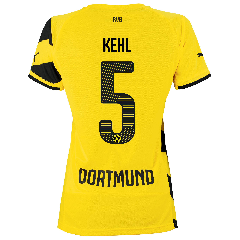 BVB Home Shirt 2014/15 - Womens Yellow with Kehl 5 printing