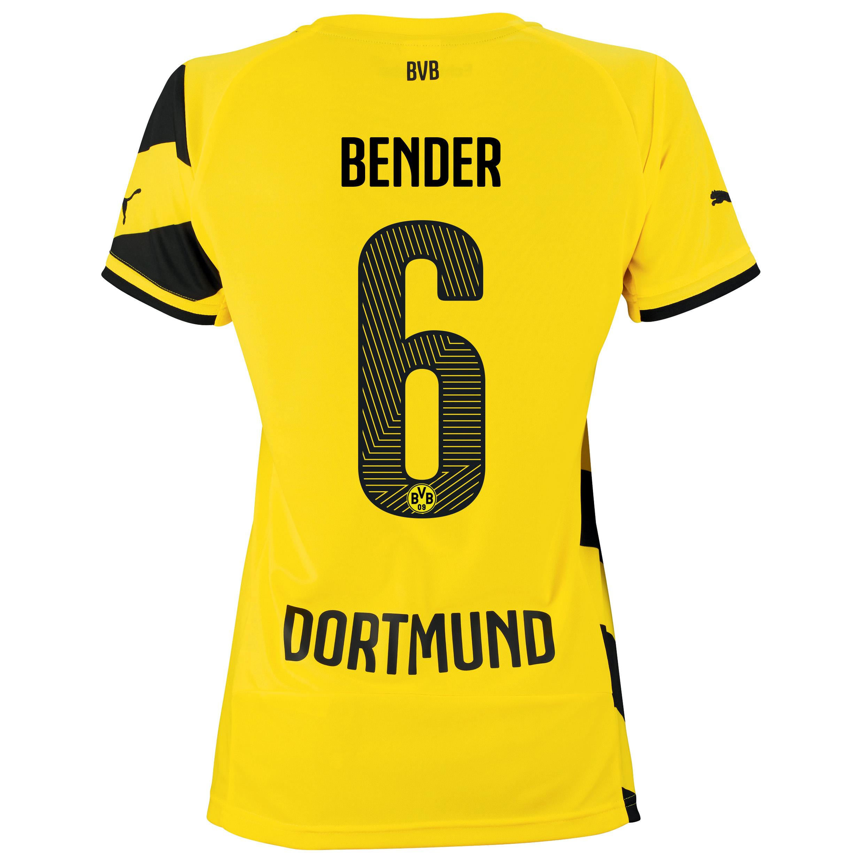 BVB Home Shirt 2014/15 - Womens Yellow with Bender 6 printing