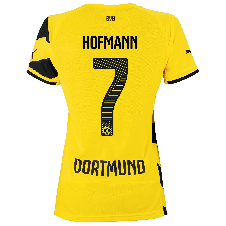 BVB Home Shirt 2014/15 - Womens Yellow with Hofmann 7 printing