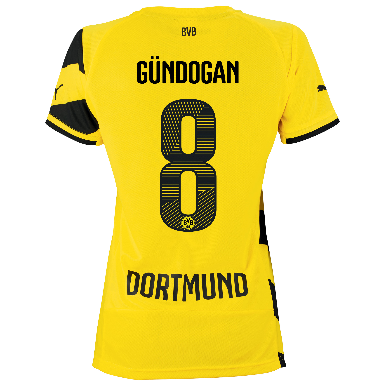 BVB Home Shirt 2014/15 - Womens Yellow with Gündogan 8 printing