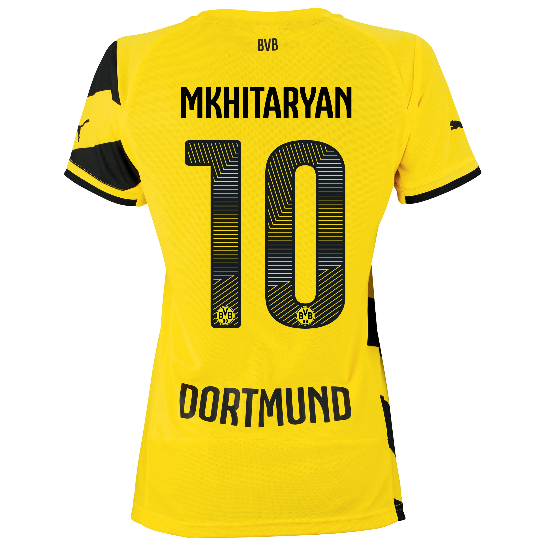 BVB Home Shirt 2014/15 - Womens Yellow with Mkhitaryan 10 printing