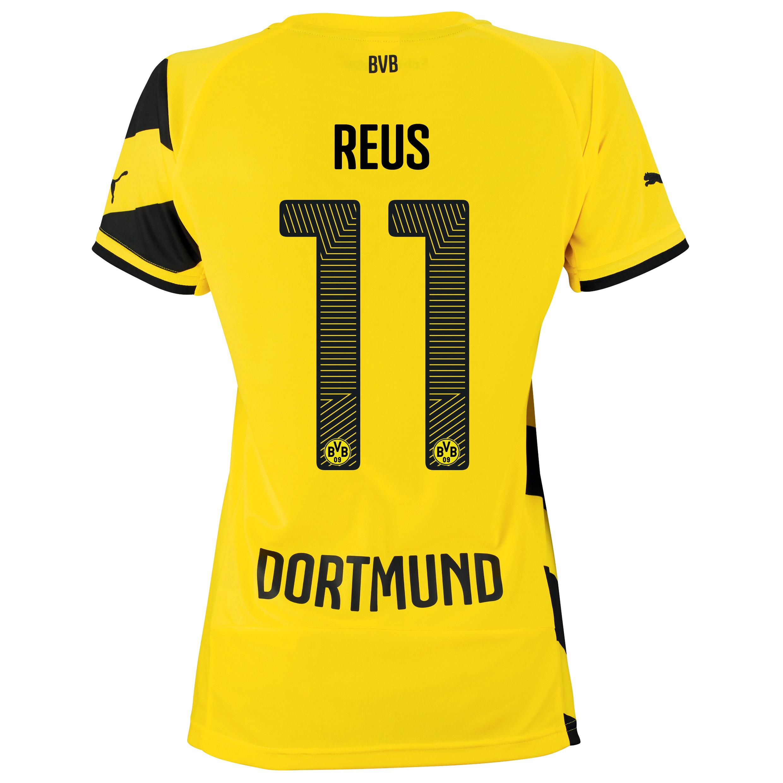 BVB Home Shirt 2014/15 - Womens Yellow with Reus 11 printing
