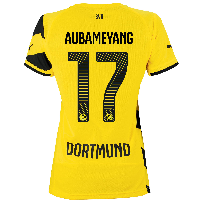 BVB Home Shirt 2014/15 - Womens Yellow with Aubameyang 17 printing