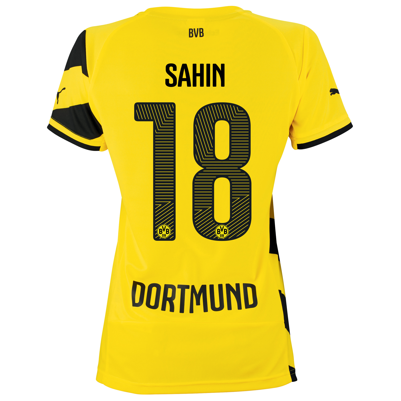 BVB Home Shirt 2014/15 - Womens Yellow with Sahin 18 printing