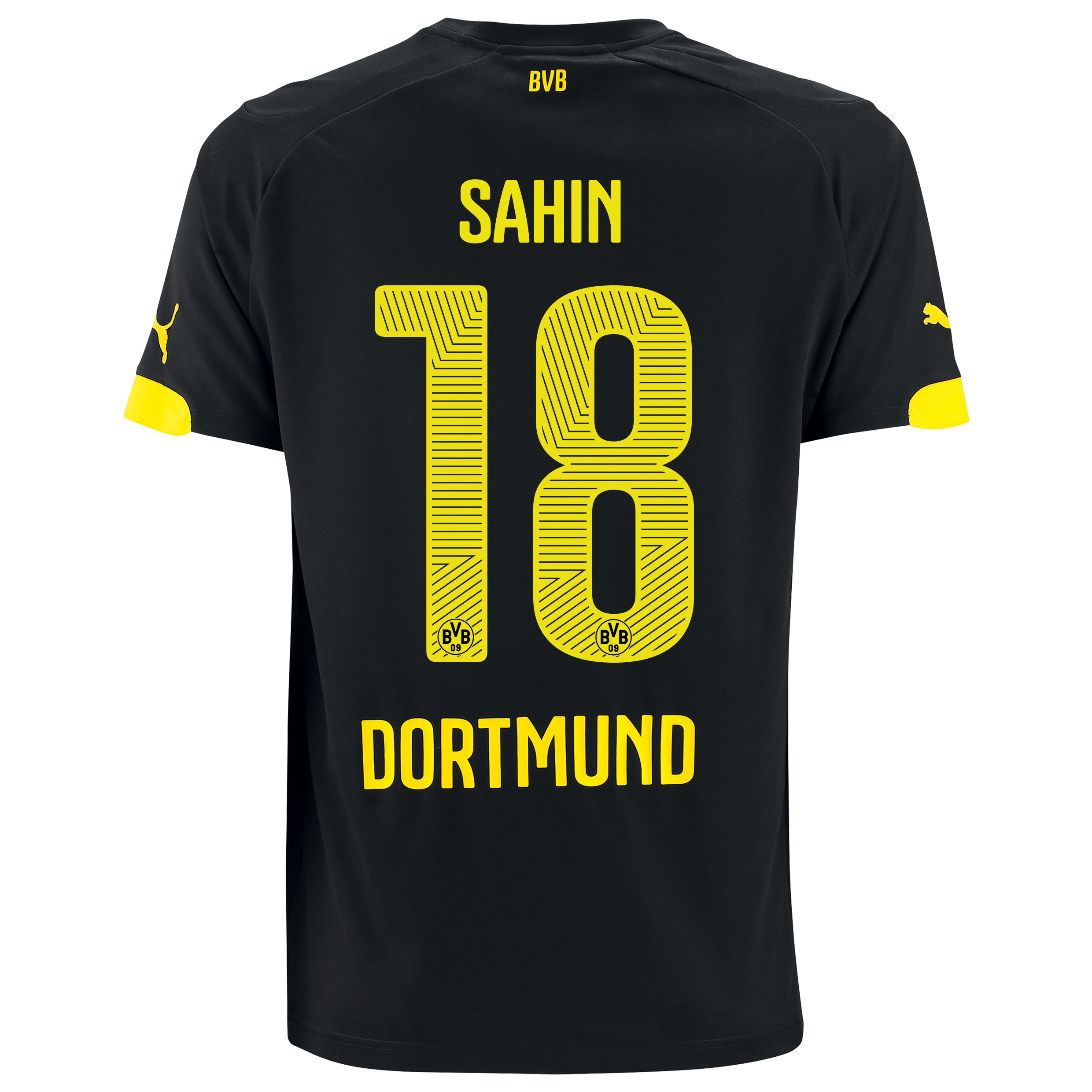 BVB Away Shirt 2014/15 Black with Sahin 18 printing