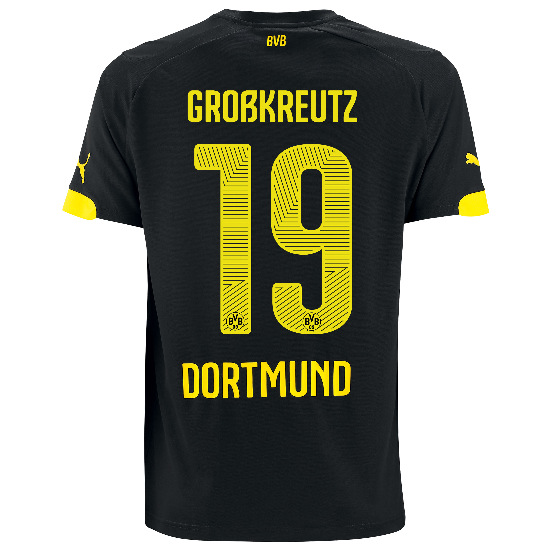 BVB Away Shirt 2014/15 Black with Großkreutz 19 printing