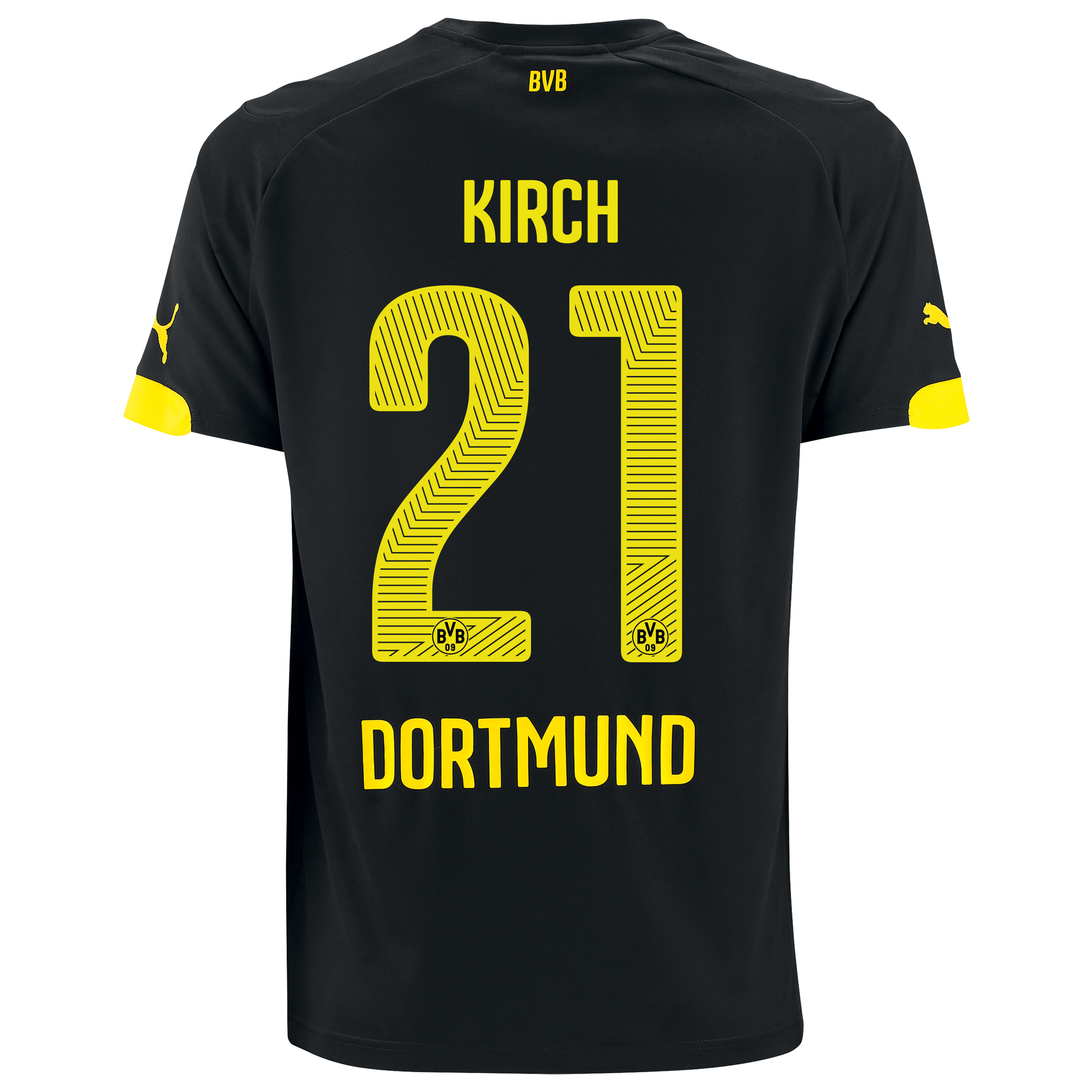 BVB Away Shirt 2014/15 Black with Kirch 21 printing
