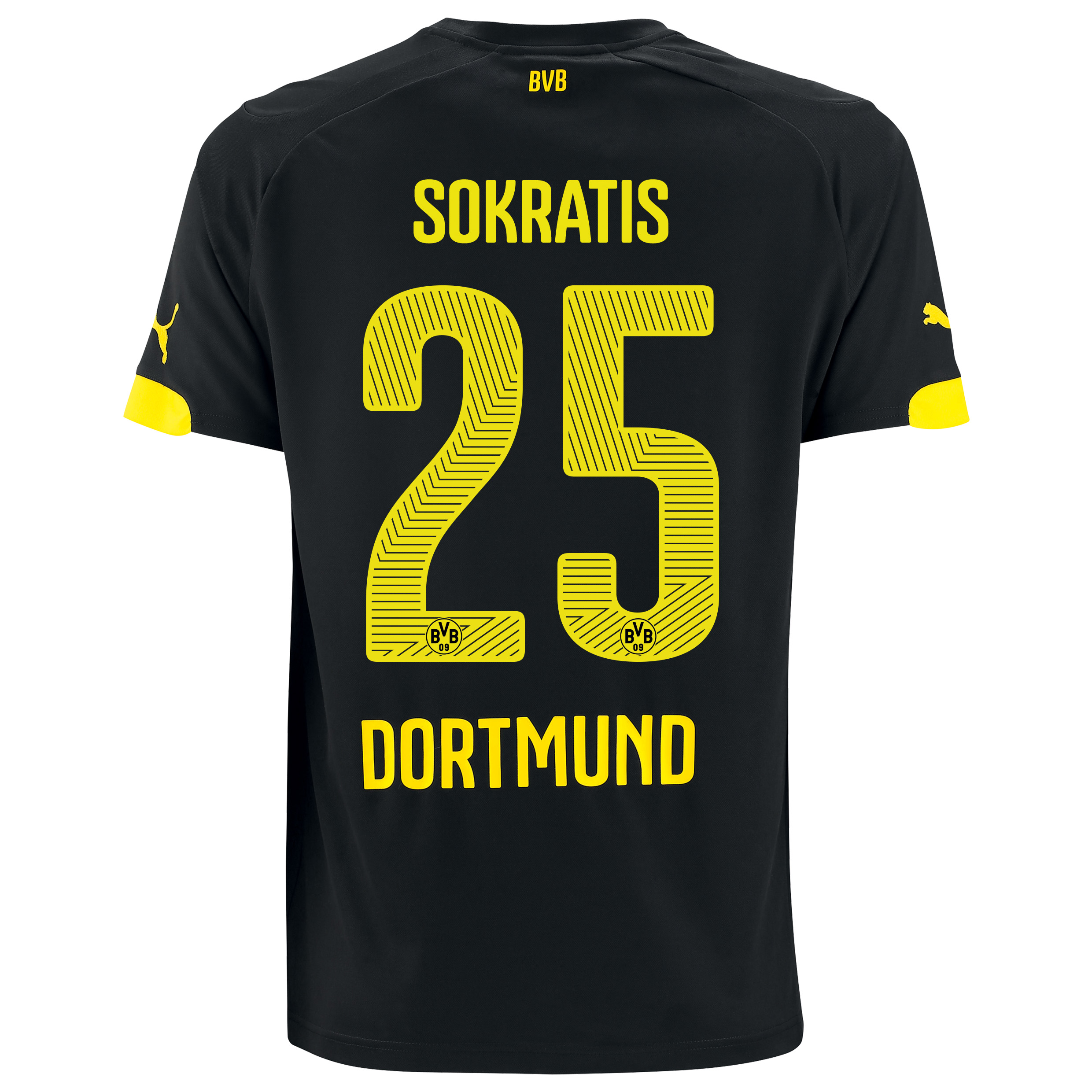 BVB Away Shirt 2014/15 Black with Sokratis 25 printing