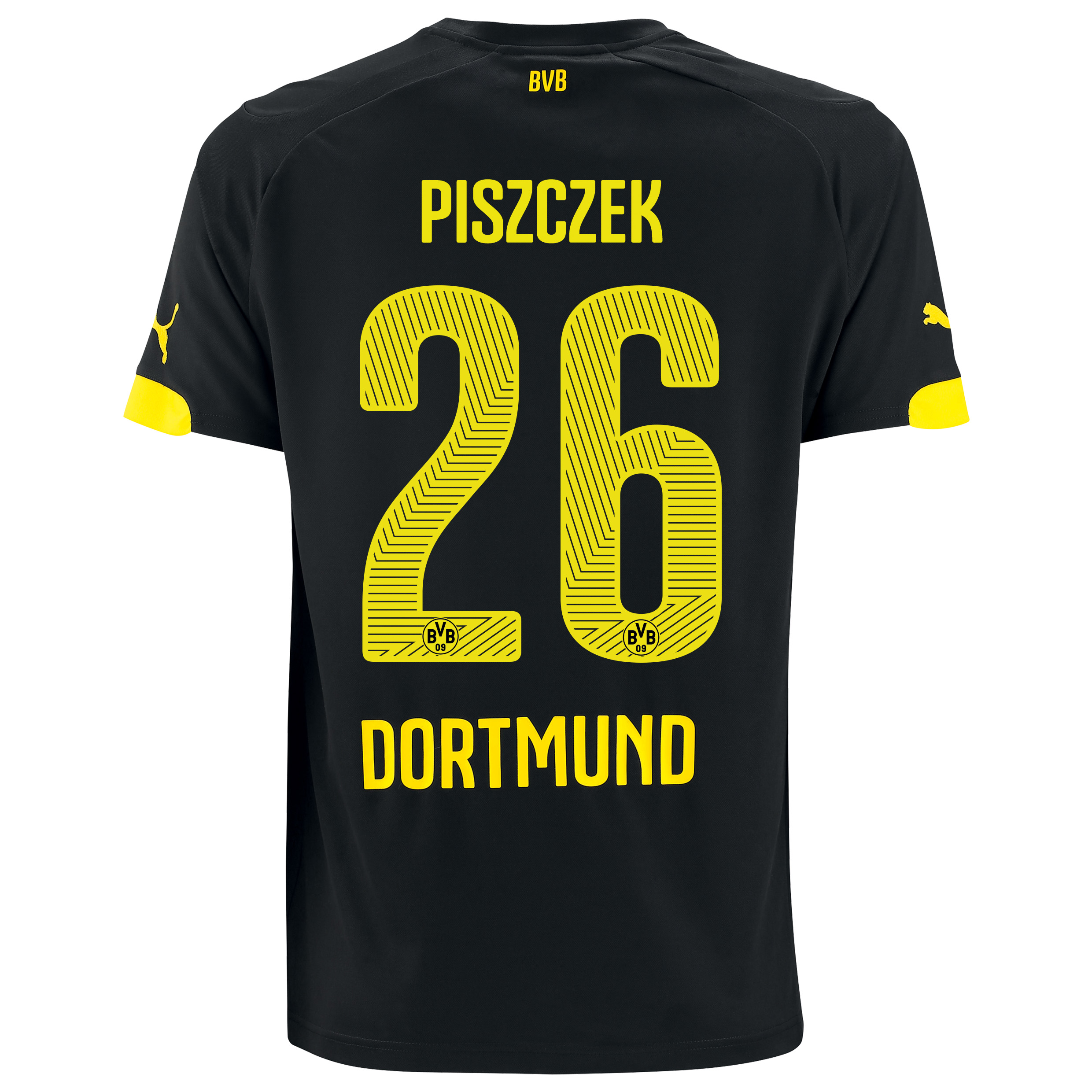 BVB Away Shirt 2014/15 Black with Piszczek 26 printing