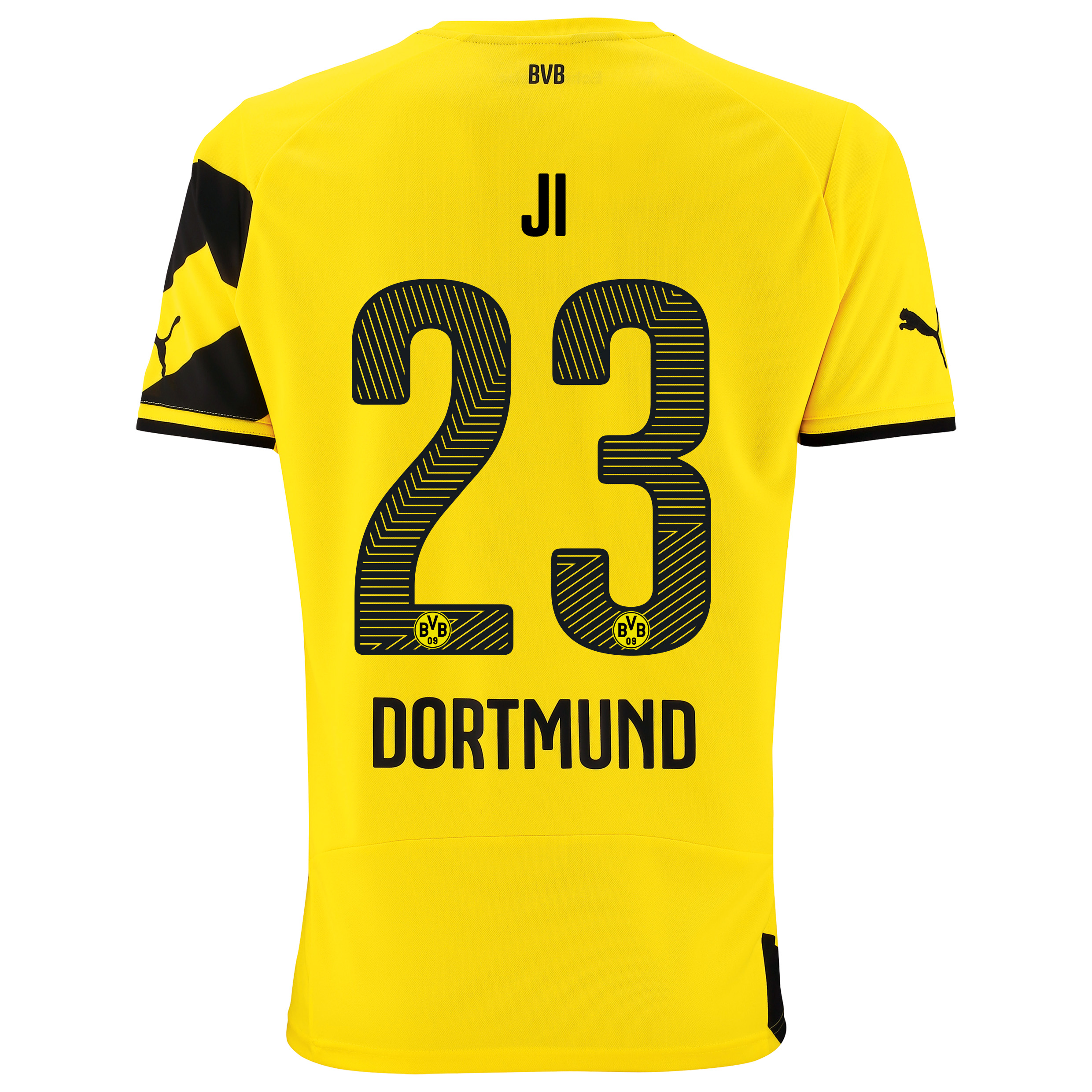 BVB Home Shirt 2014/15 with Dong-Won Ji 23 printing