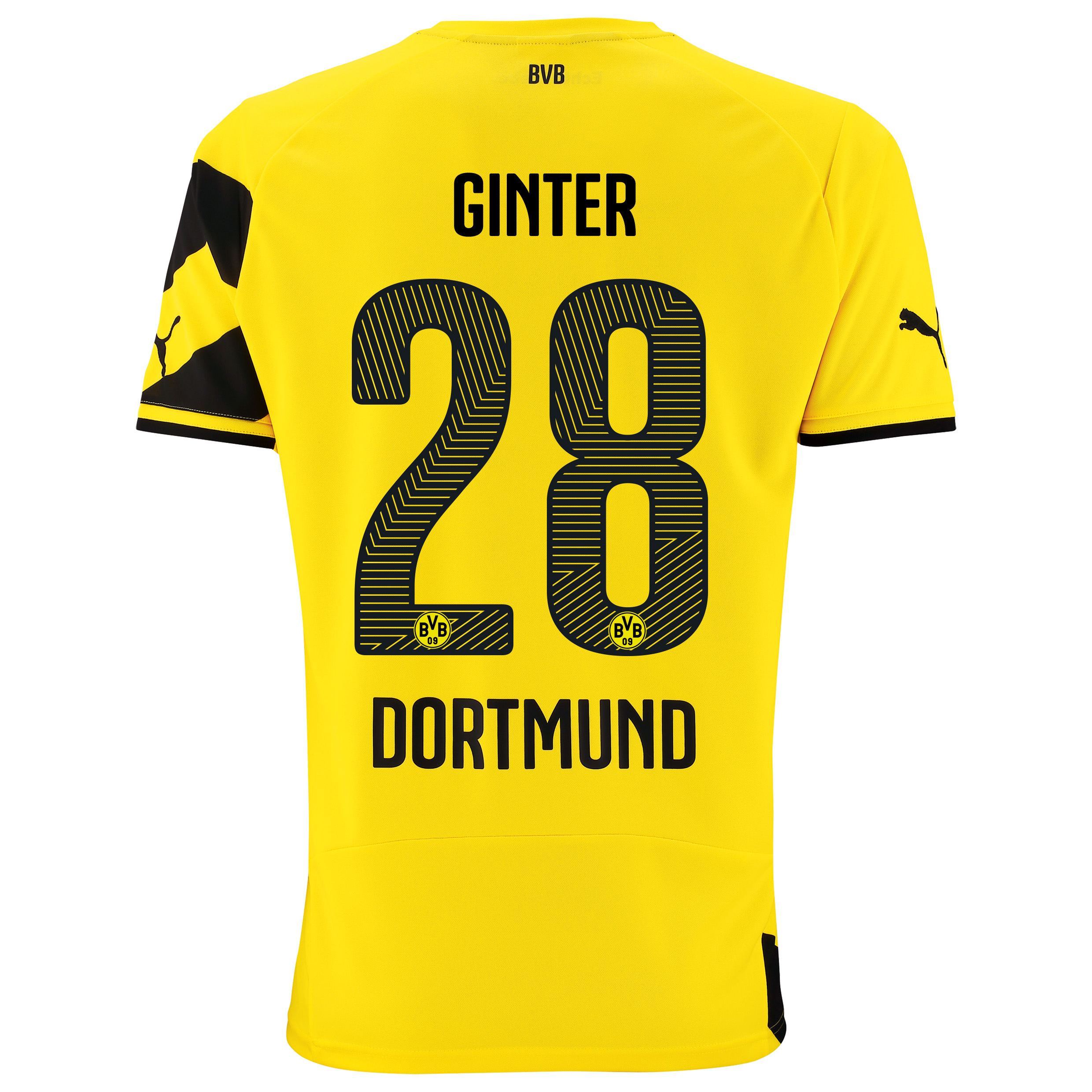 BVB Home Shirt 2014/15 with Matthias Ginter 28 printing