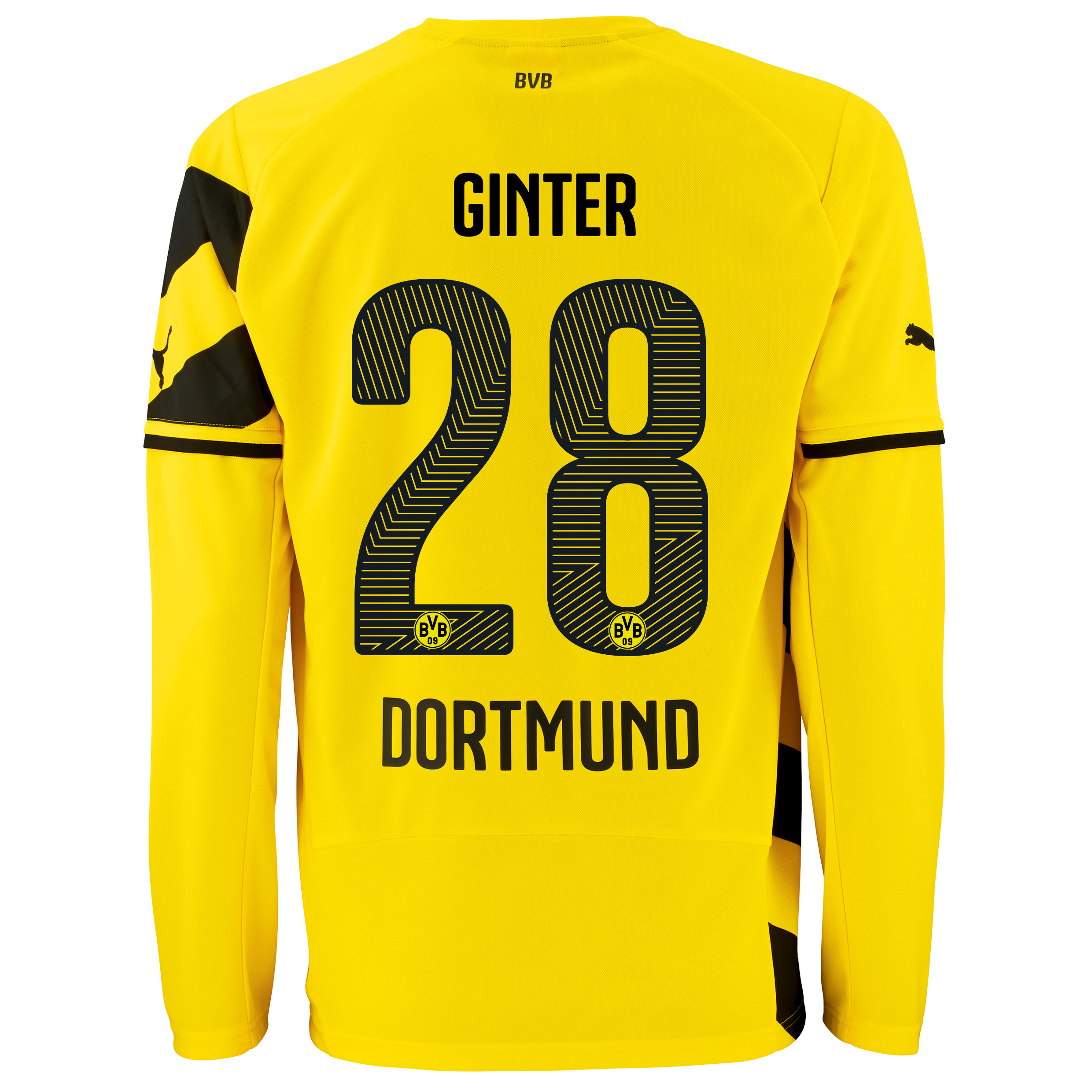 BVB Home Shirt 2014/15 - Long Sleeve with Matthias Ginter 28 printing