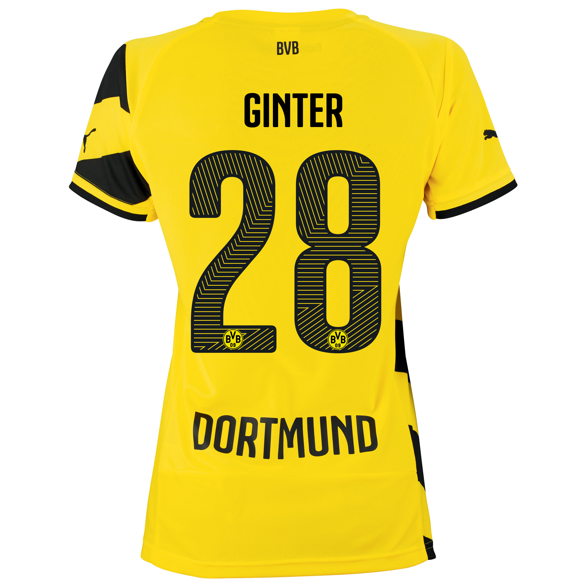 BVB Home Shirt 2014/15 - Womens with Matthias Ginter 28 printing