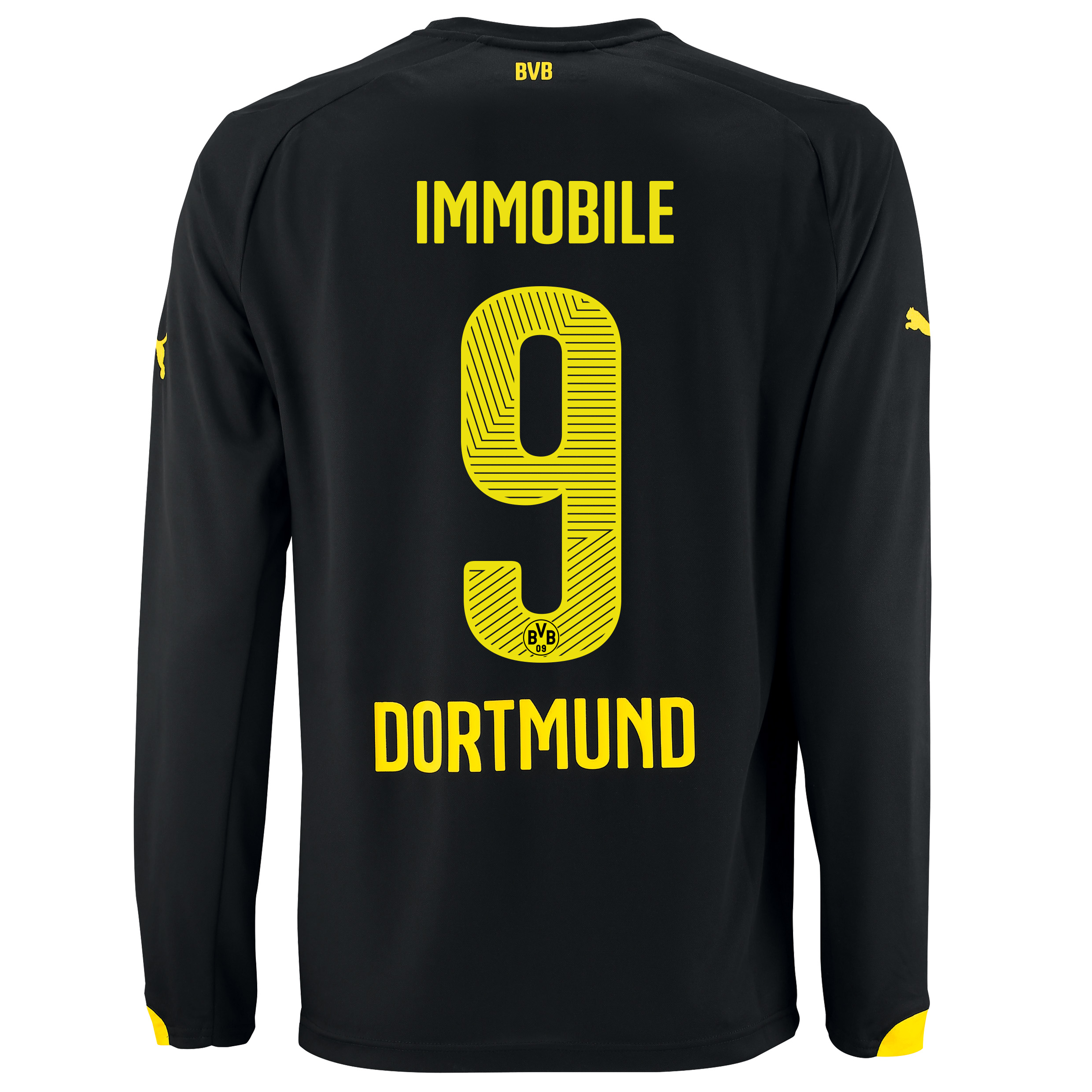 BVB Away Shirt 2014/15 - Long Sleeve with Ciro Immobile 9 printing