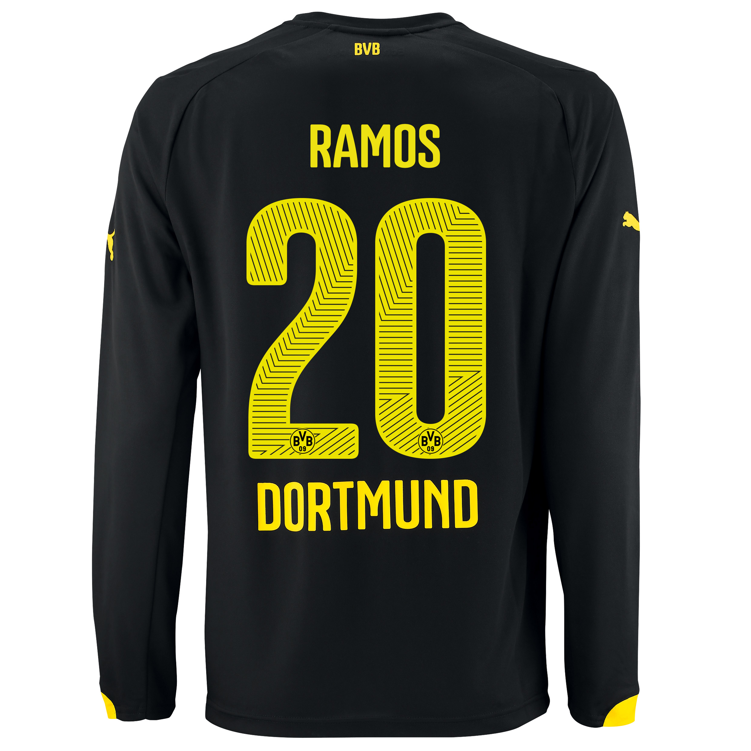 BVB Away Shirt 2014/15 - Long Sleeve with Adrian Ramos 20 printing