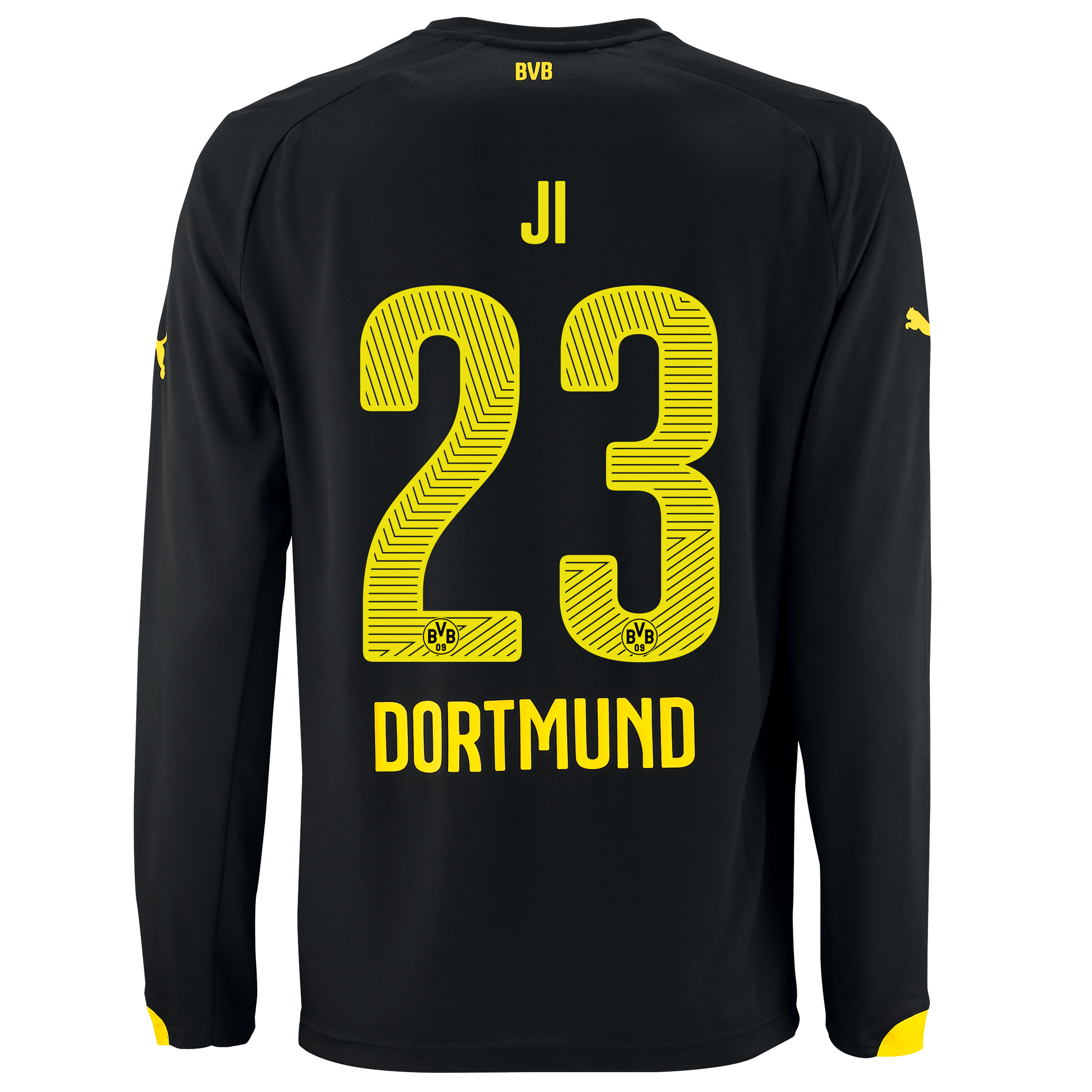 BVB Away Shirt 2014/15 - Long Sleeve with Dong-Won Ji 23 printing