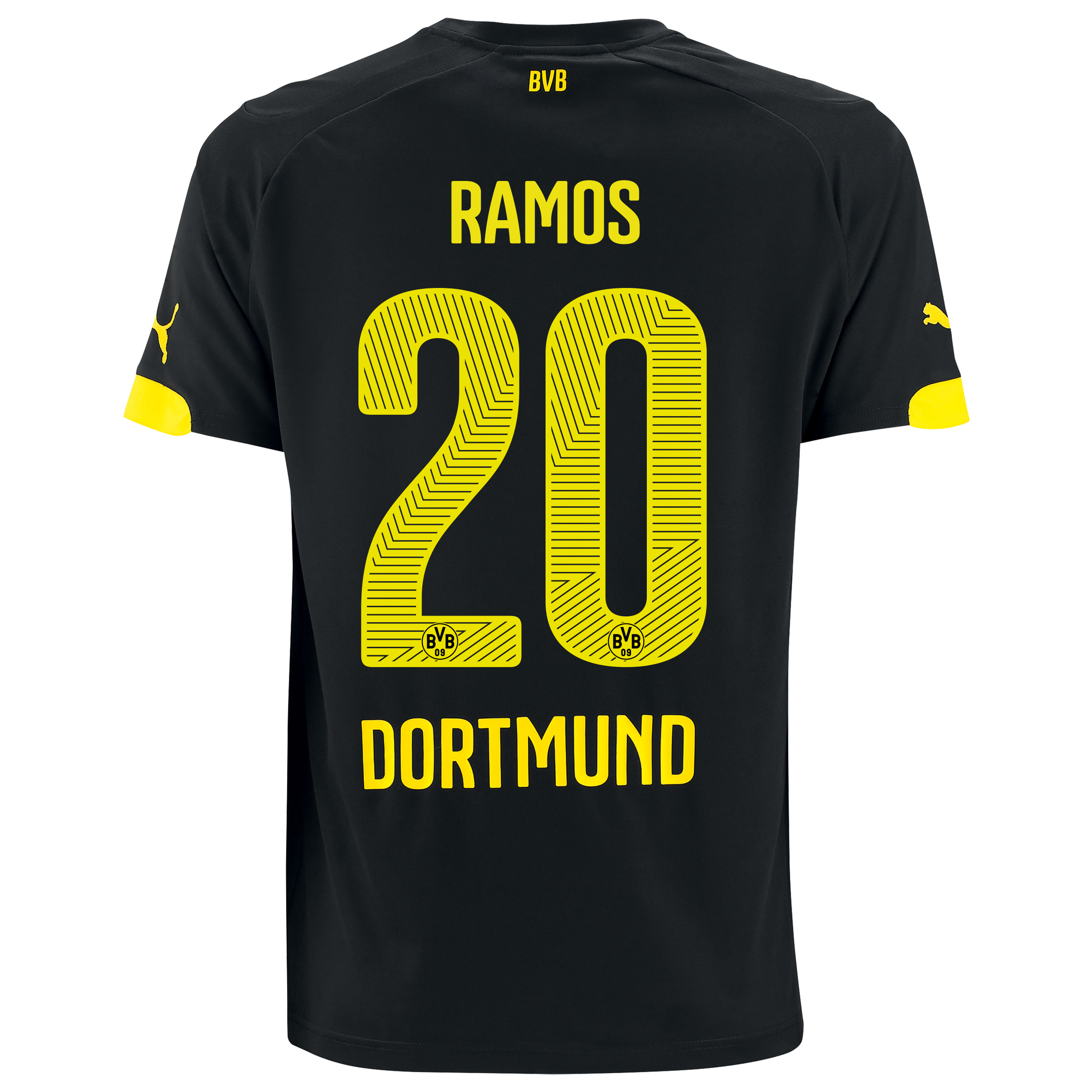 BVB Away Shirt 2014/15 with Adrian Ramos 20 printing