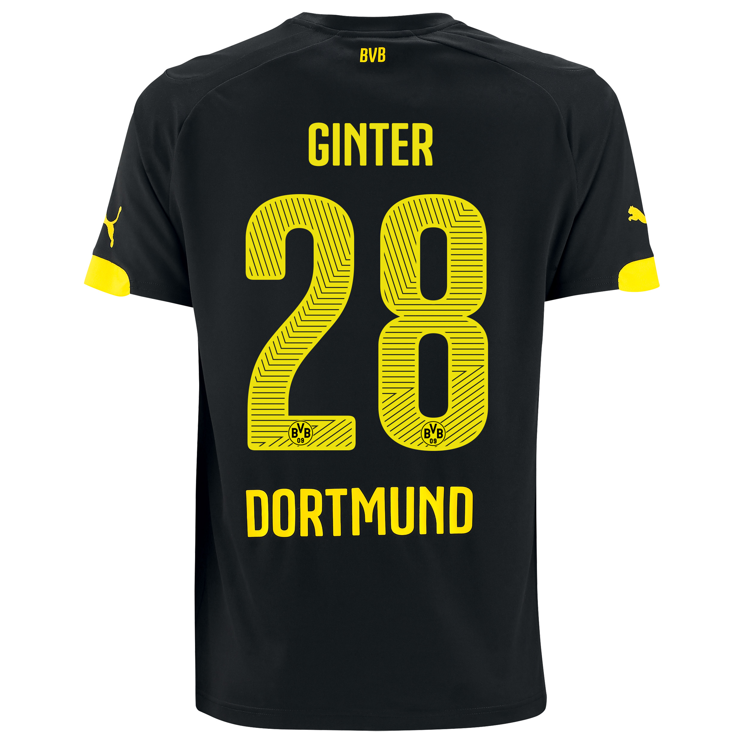 BVB Away Shirt 2014/15 with Matthias Ginter 28 printing
