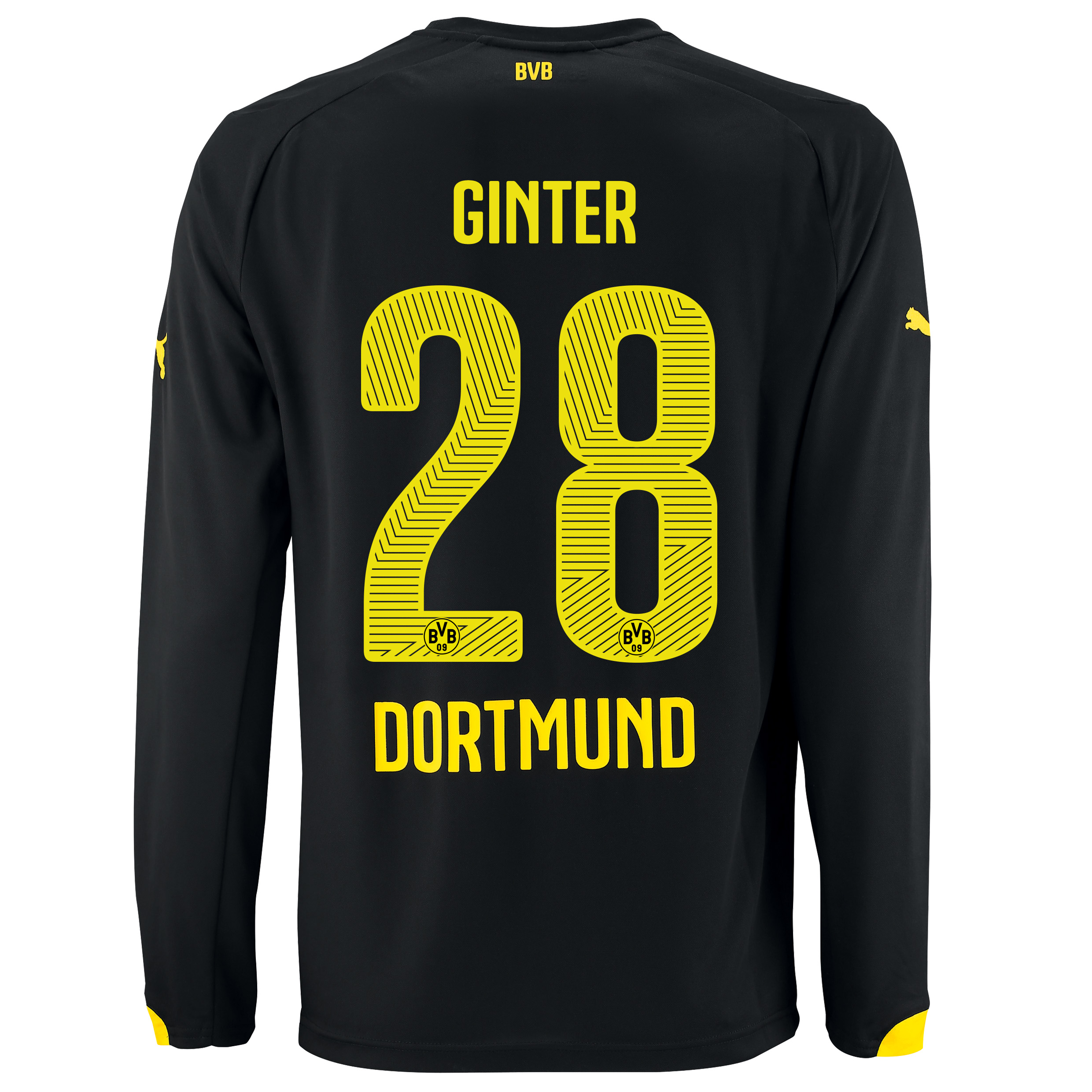 BVB Away Shirt 2014/15 - Long Sleeve - Kids with Matthias Ginter 28 printing
