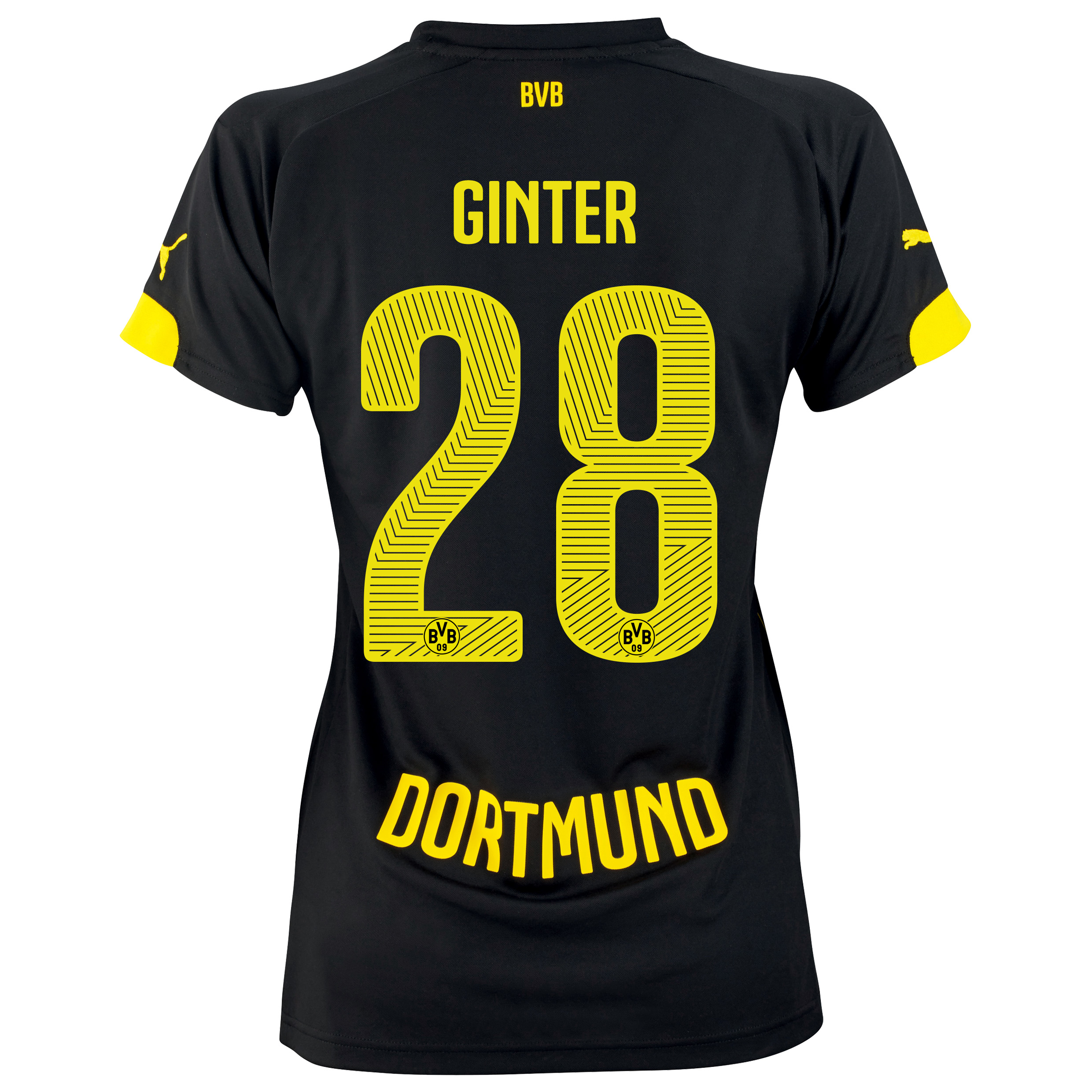 BVB Away Shirt 2014/15 - Womens with Matthias Ginter 28 printing
