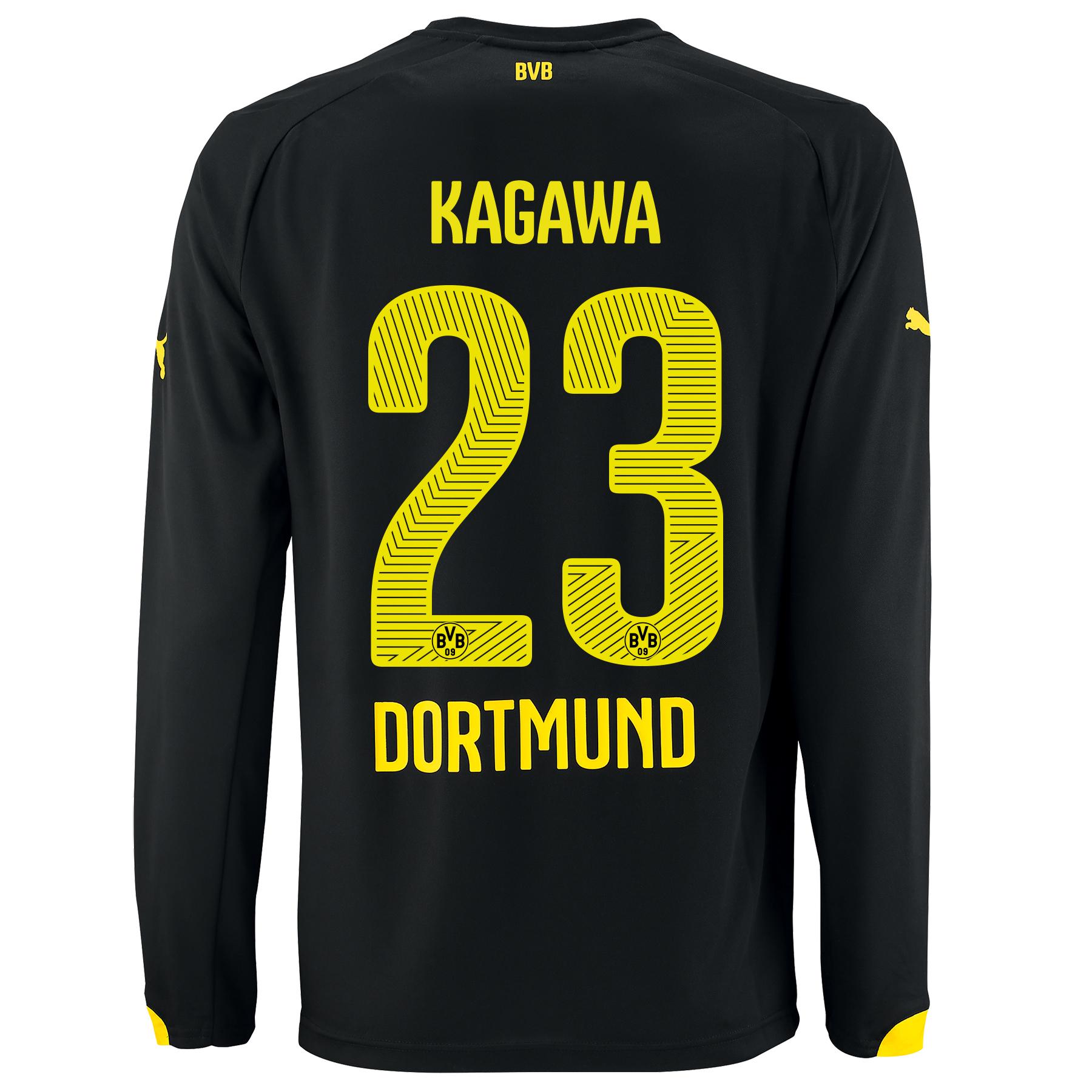 BVB Away Shirt 2014/15 - Long Sleeve - Kids with Kagawa 7 printing