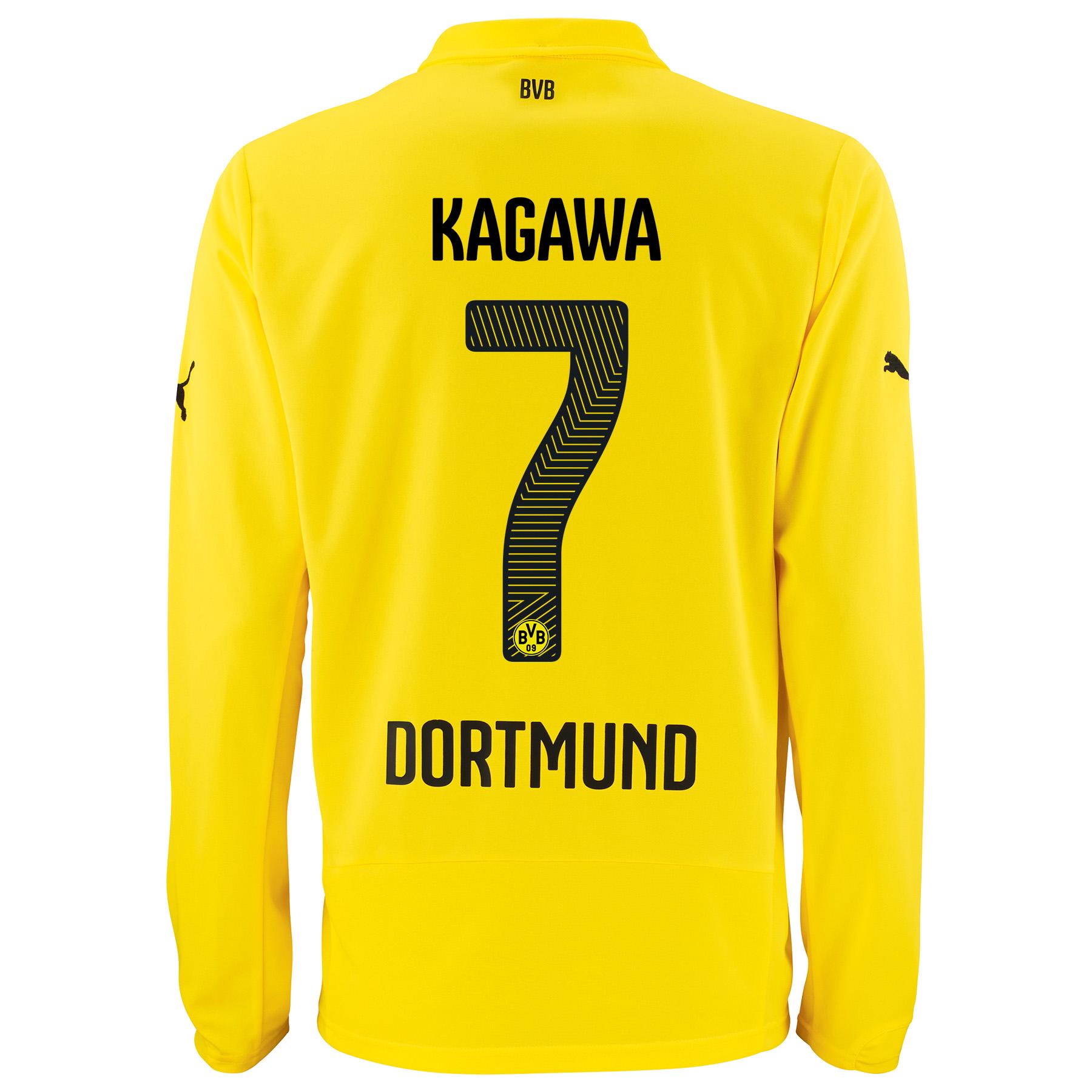 BVB International Home Shirt 2014/15 - Long Sleeve - Kids with Kagawa 7 printing