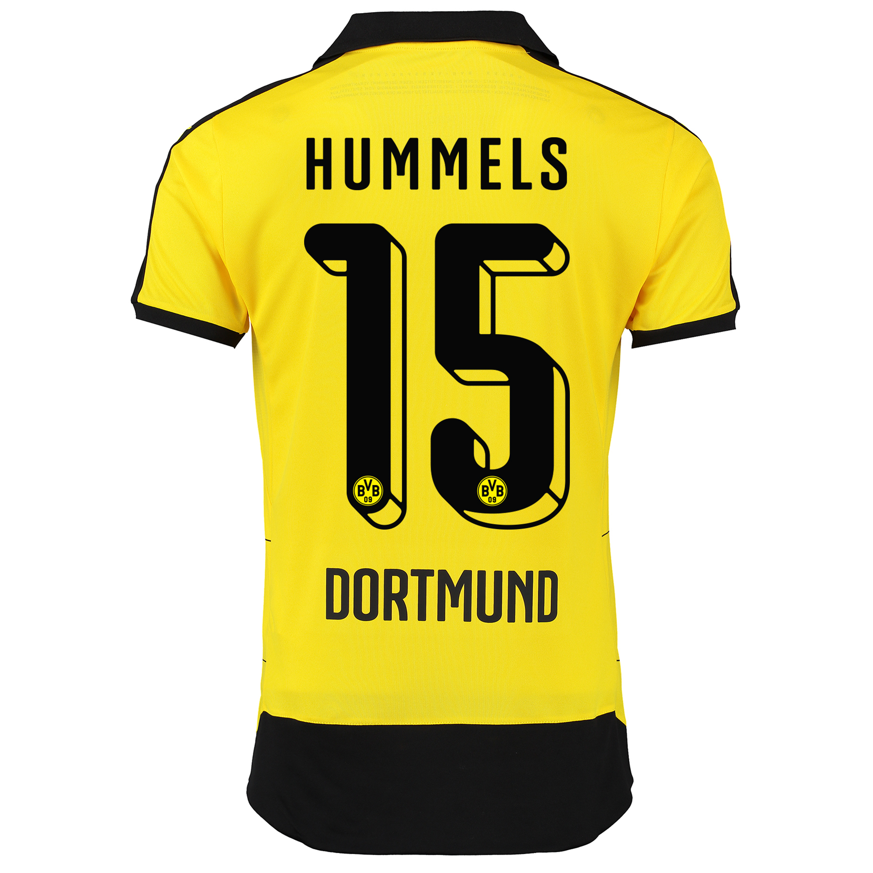 BVB Home Shirt 2015/16 – Kids Yellow with Hummels 15 printing