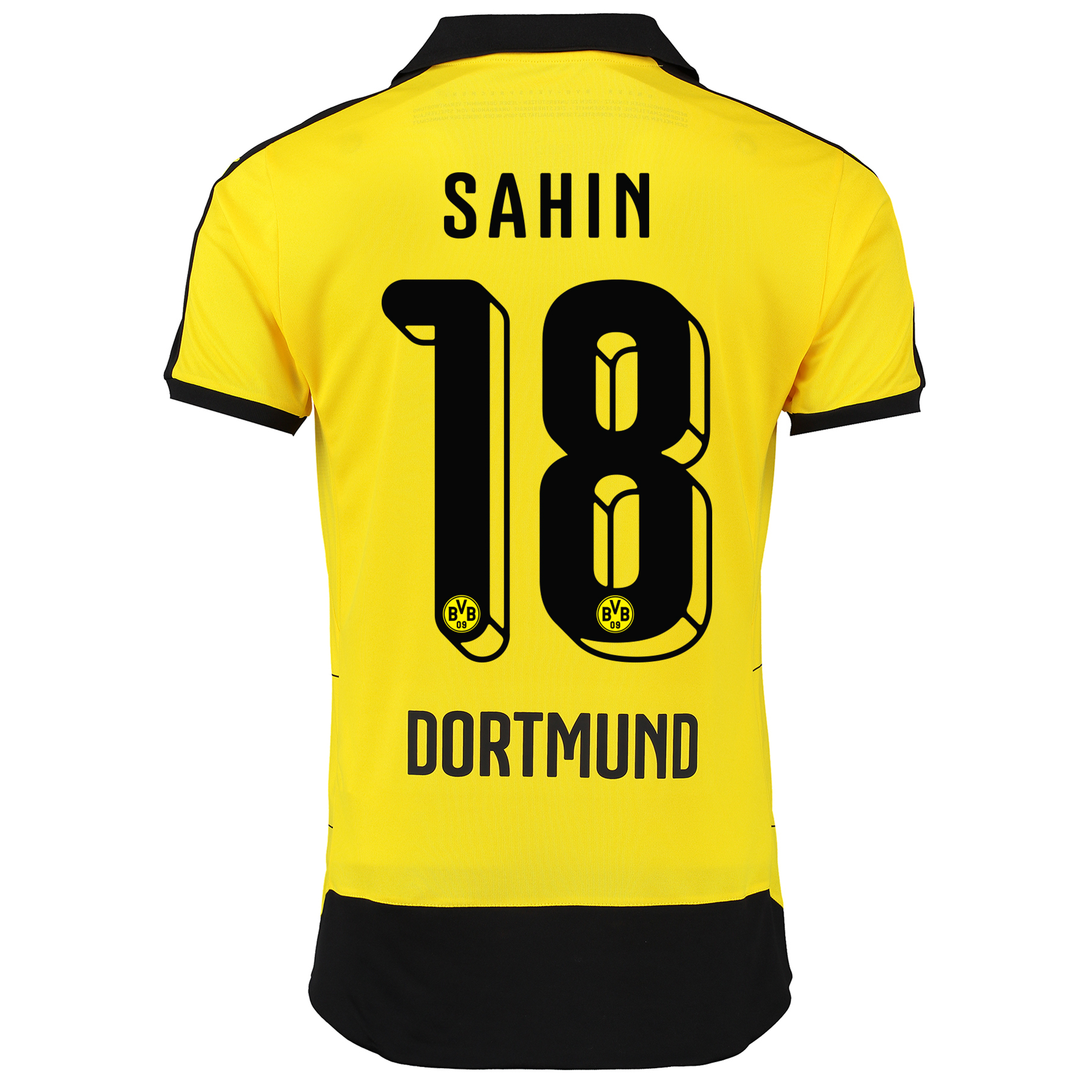 BVB Home Shirt 2015/16 - Kids Yellow with Sahin 18 printing