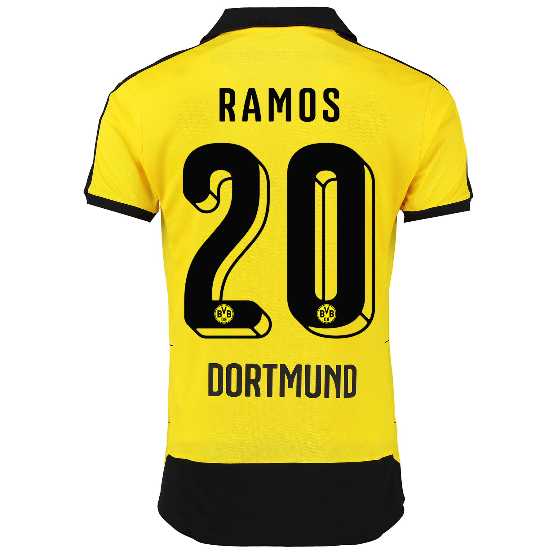 BVB Home Shirt 2015/16 – Kids Yellow with Adrian Ramos 20 printing