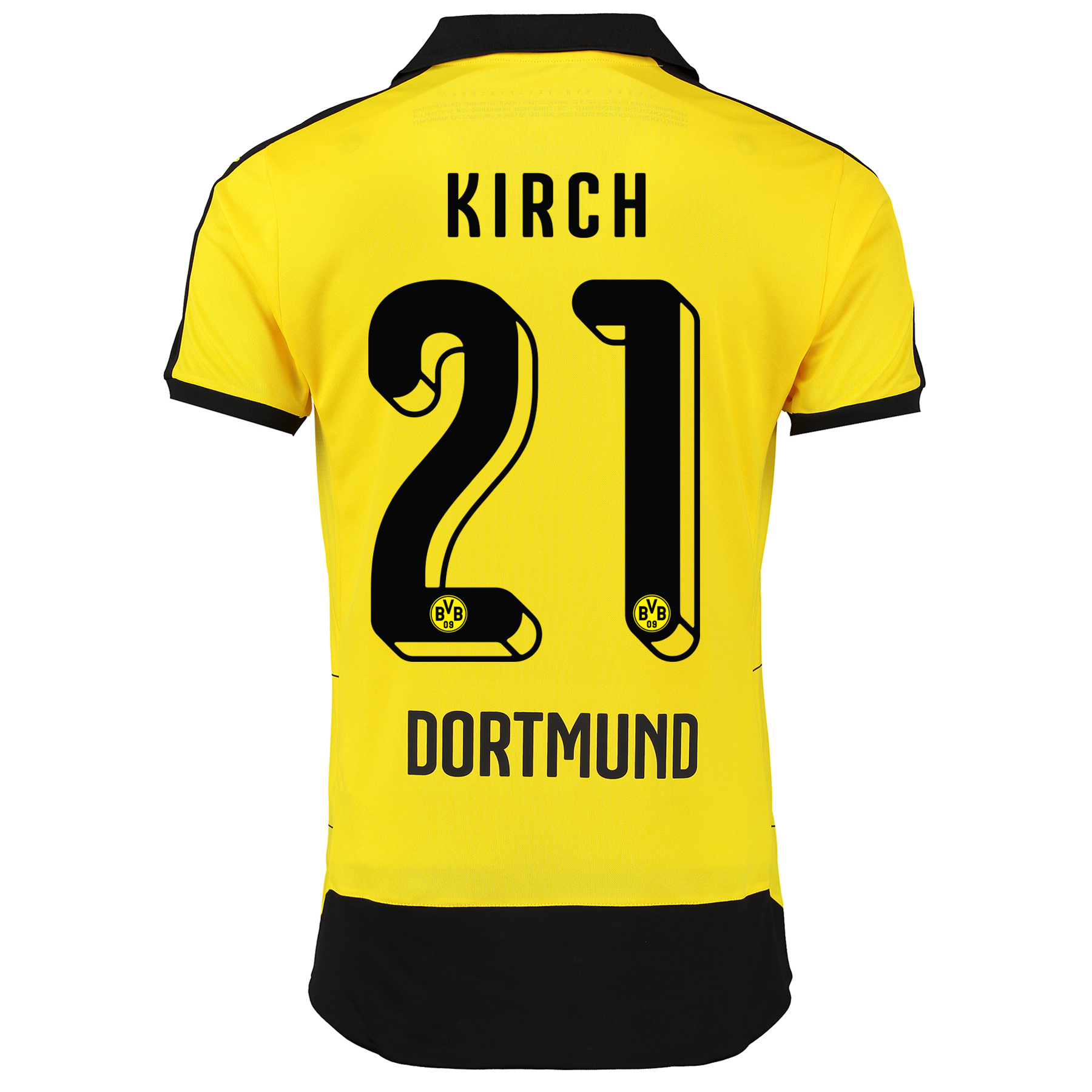 BVB Home Shirt 2015/16 – Kids Yellow with Kirch 21 printing