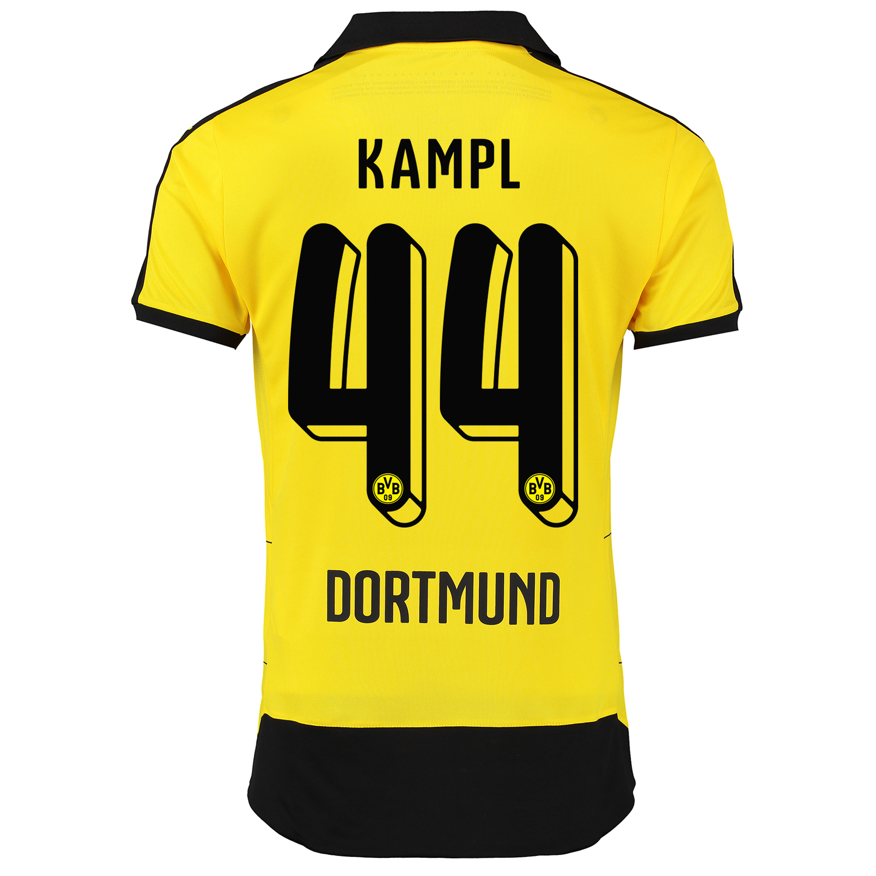 BVB Home Shirt 2015/16 – Kids Yellow with Kampl 44 printing