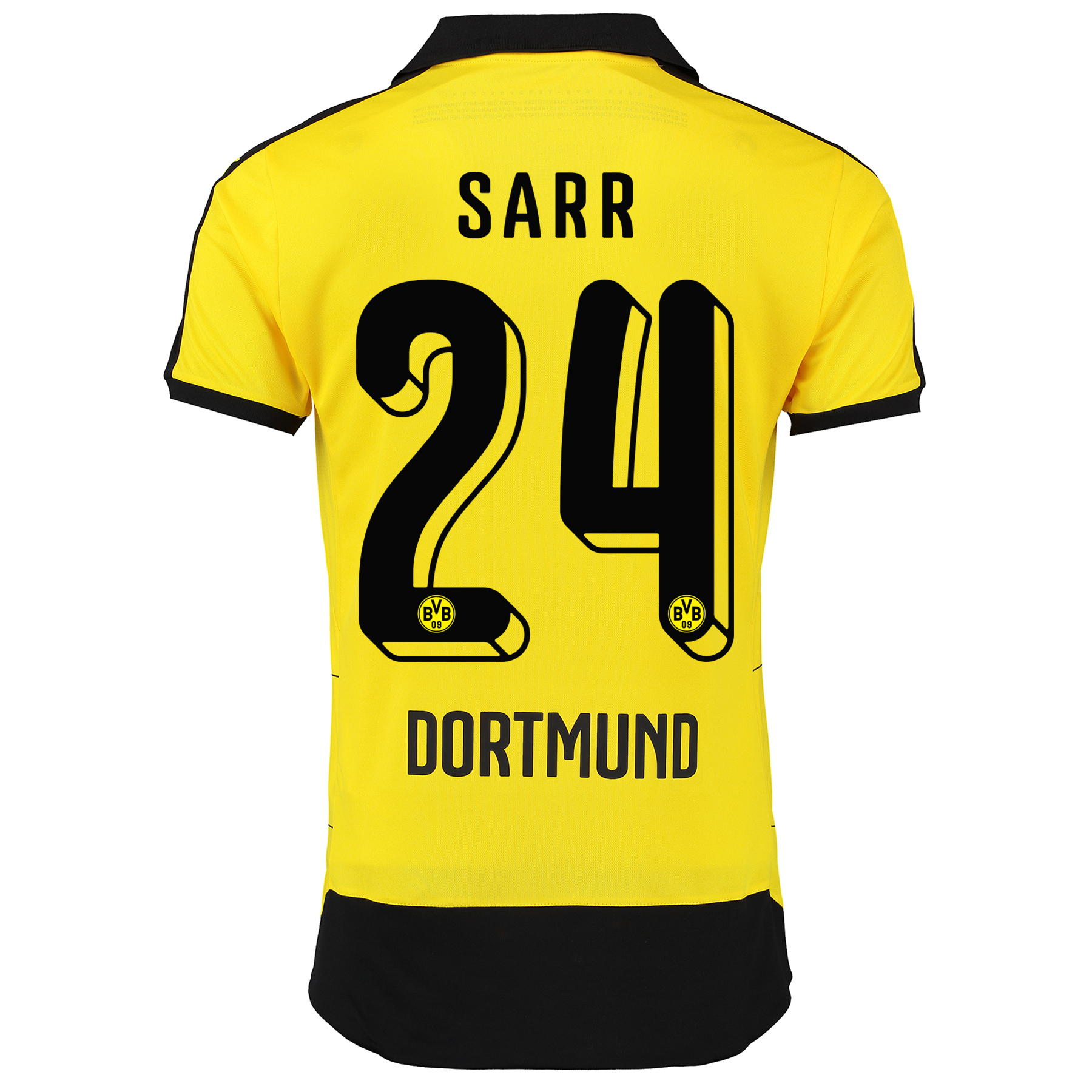 BVB Home Shirt 2015/16 – Kids Yellow with Sarr 24 printing