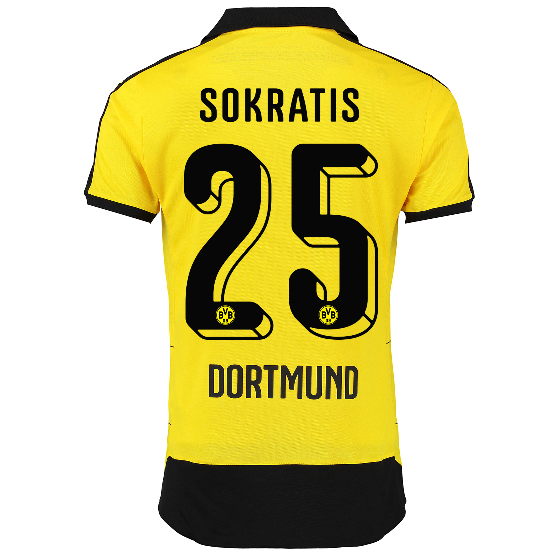 BVB Home Shirt 2015/16 - Kids Yellow with Sokratis 25 printing