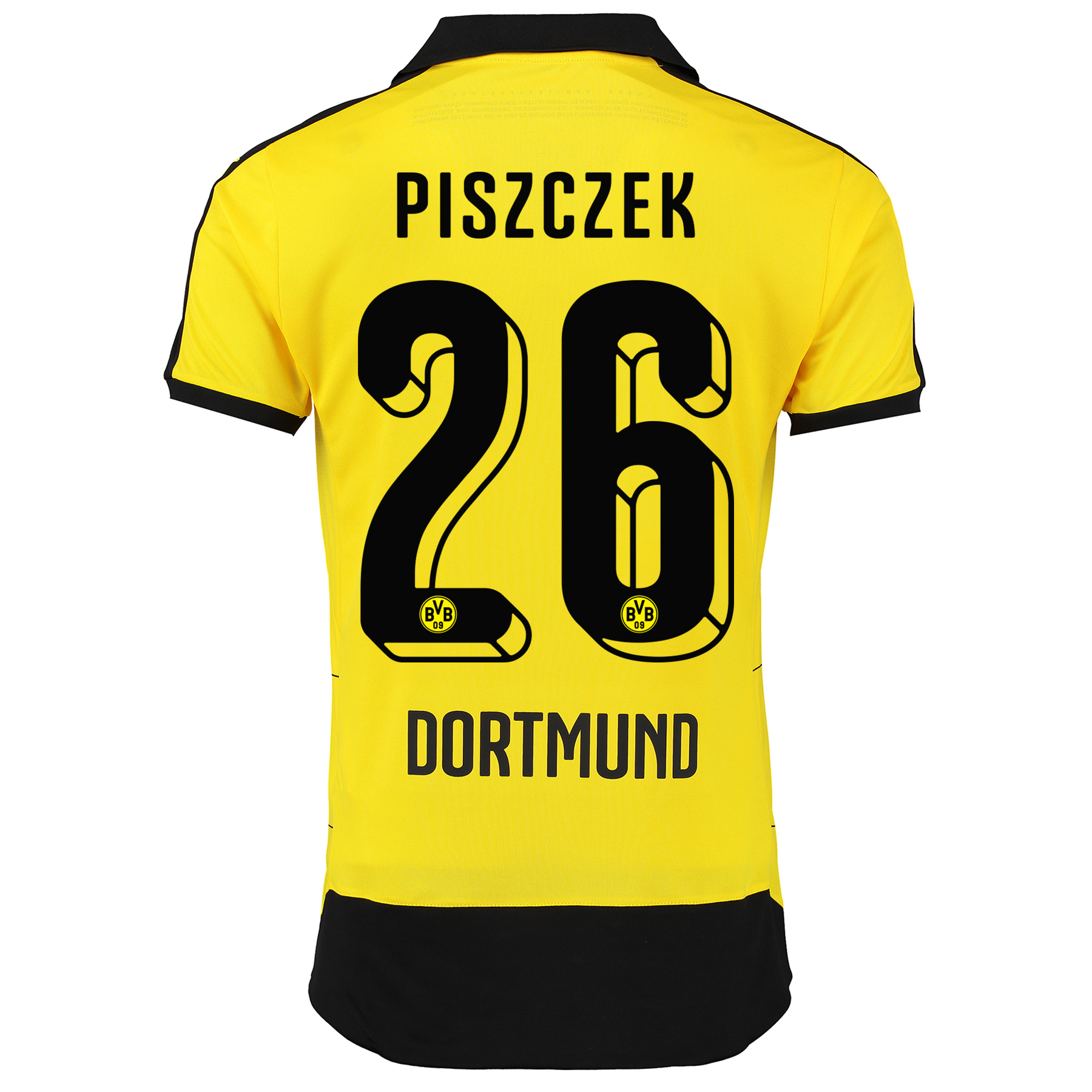 BVB Home Shirt 2015/16 – Kids Yellow with Piszczek 26 printing
