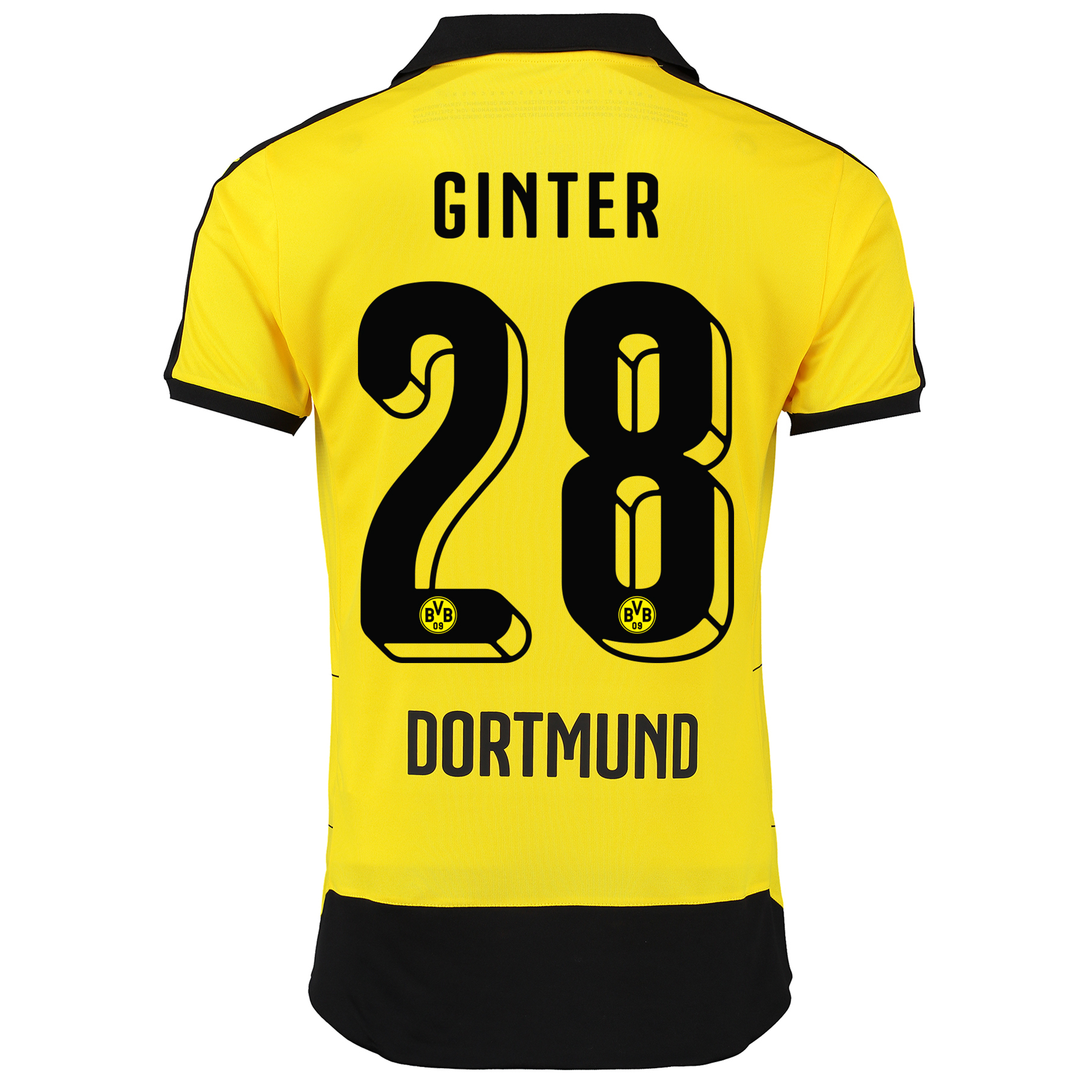 BVB Home Shirt 2015/16 – Kids Yellow with Matthias Ginter 28 printing