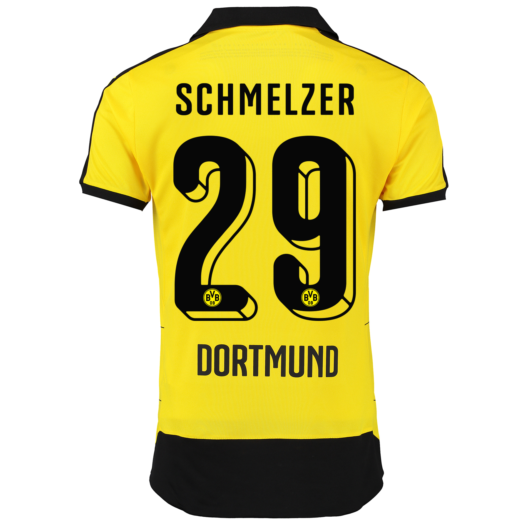 BVB Home Shirt 2015/16 - Kids Yellow with Schmelzer 29 printing