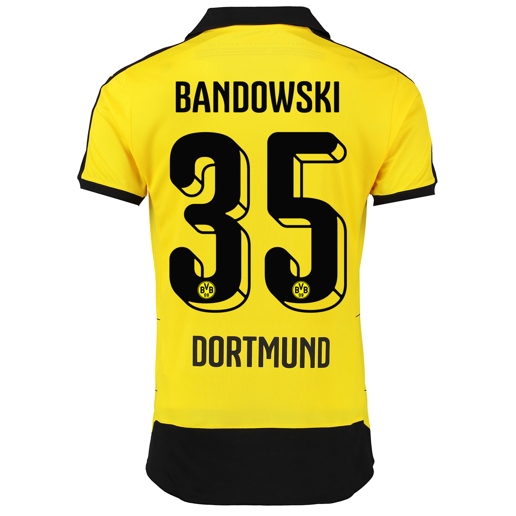 BVB Home Shirt 2015/16 – Kids Yellow with Bandowski 35 printing