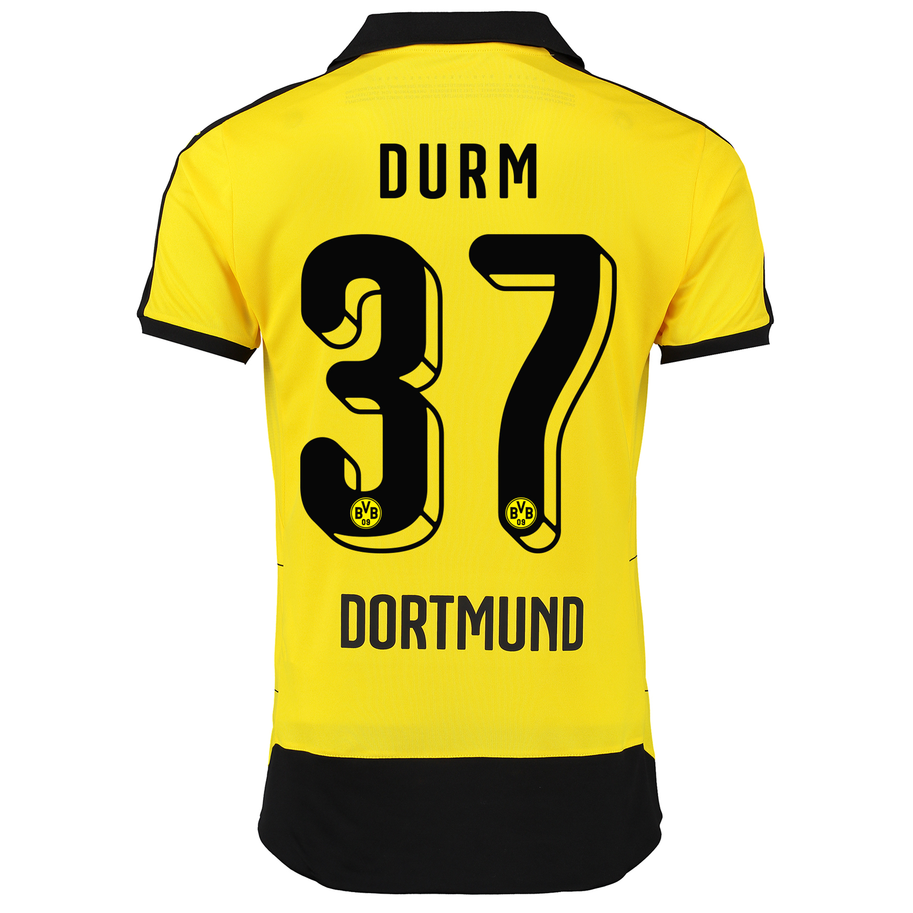BVB Home Shirt 2015/16 - Kids Yellow with Durm 37 printing