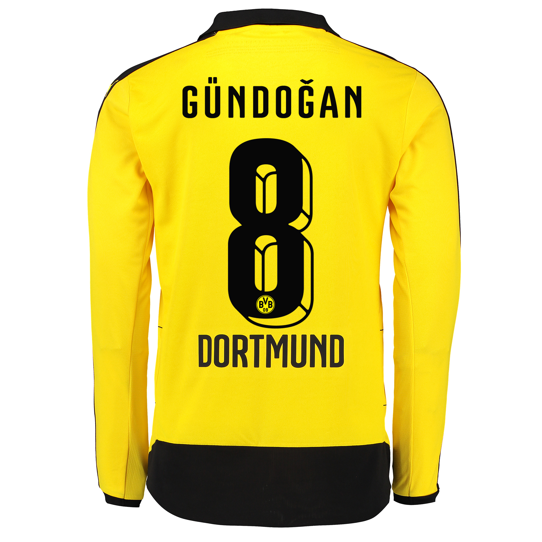 BVB Home Shirt 2015/16 – Long Sleeve – Kids Yellow with Gündogan 8 pri
