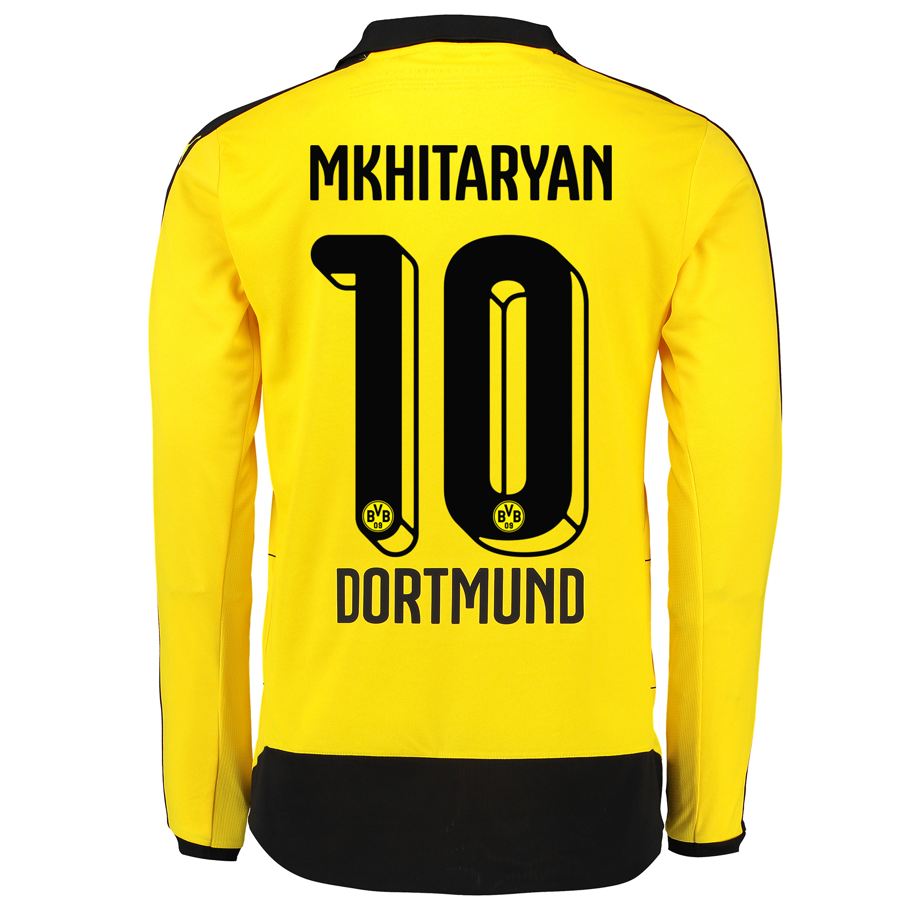BVB Home Shirt 2015/16 – Long Sleeve – Kids Yellow with Mkhitaryan 10