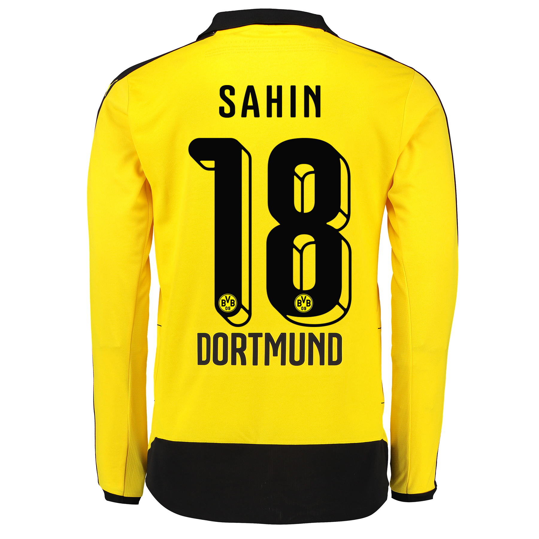 BVB Home Shirt 2015/16 – Long Sleeve – Kids Yellow with Sahin 18 print