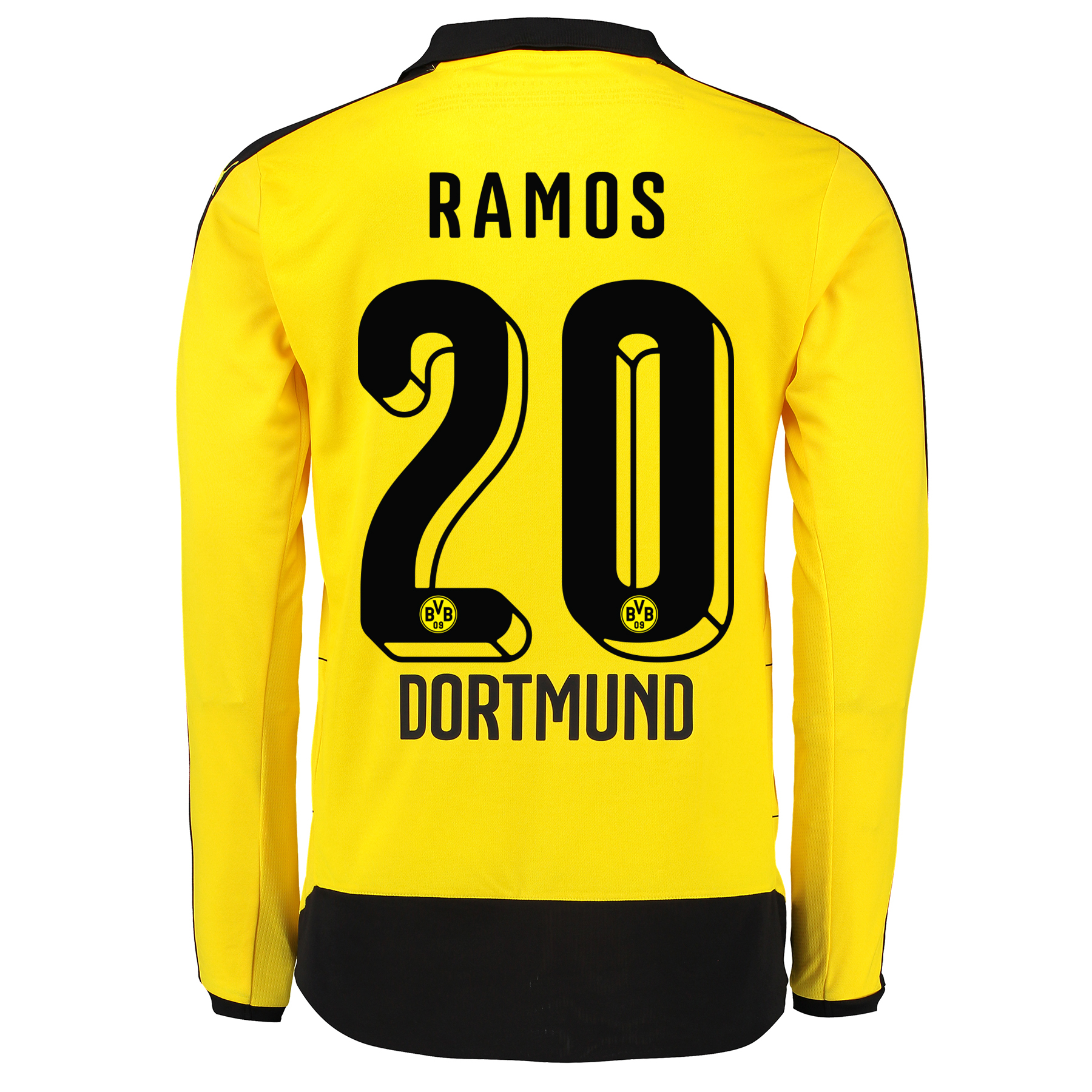 BVB Home Shirt 2015/16 – Long Sleeve – Kids Yellow with Adrian Ramos 2