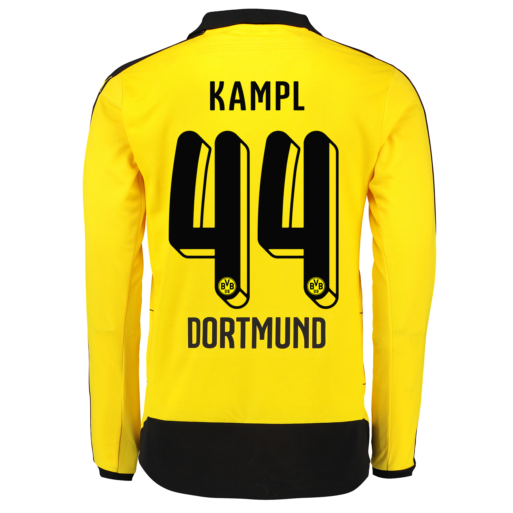 BVB Home Shirt 2015/16 - Long Sleeve - Kids Yellow with Kampl 44 print