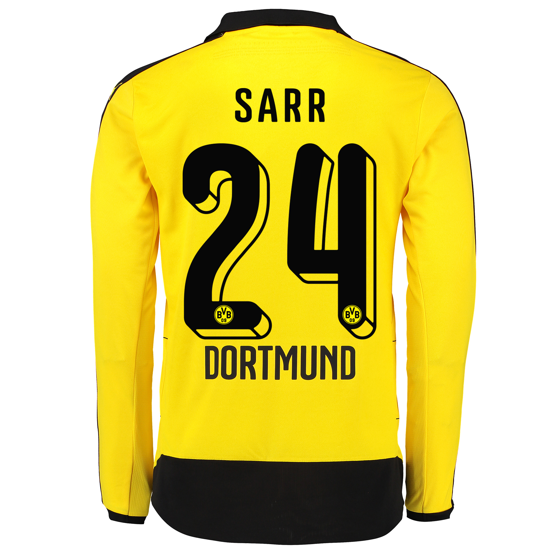 BVB Home Shirt 2015/16 – Long Sleeve – Kids Yellow with Sarr 24 printi
