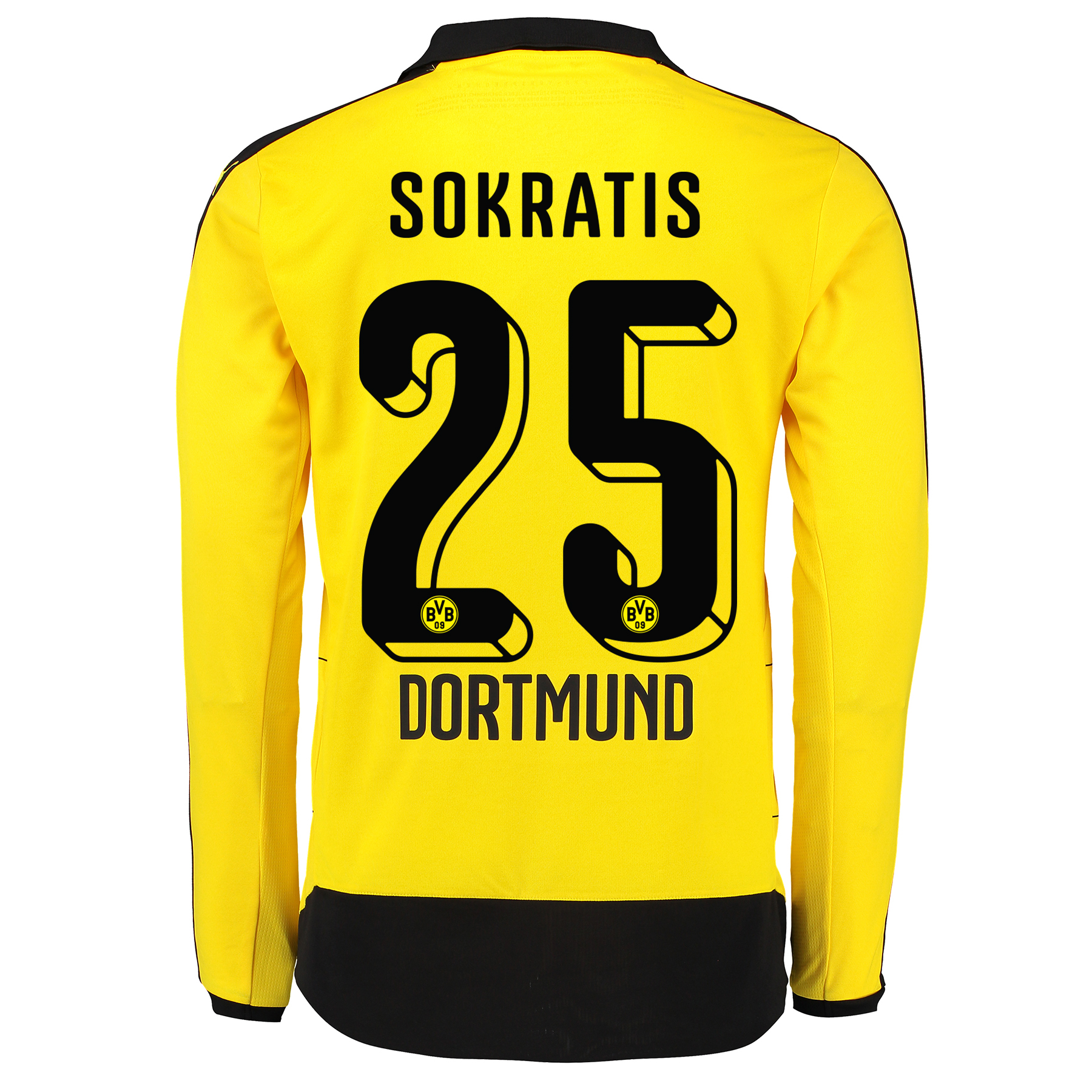 BVB Home Shirt 2015/16 – Long Sleeve – Kids Yellow with Sokratis 25 pr