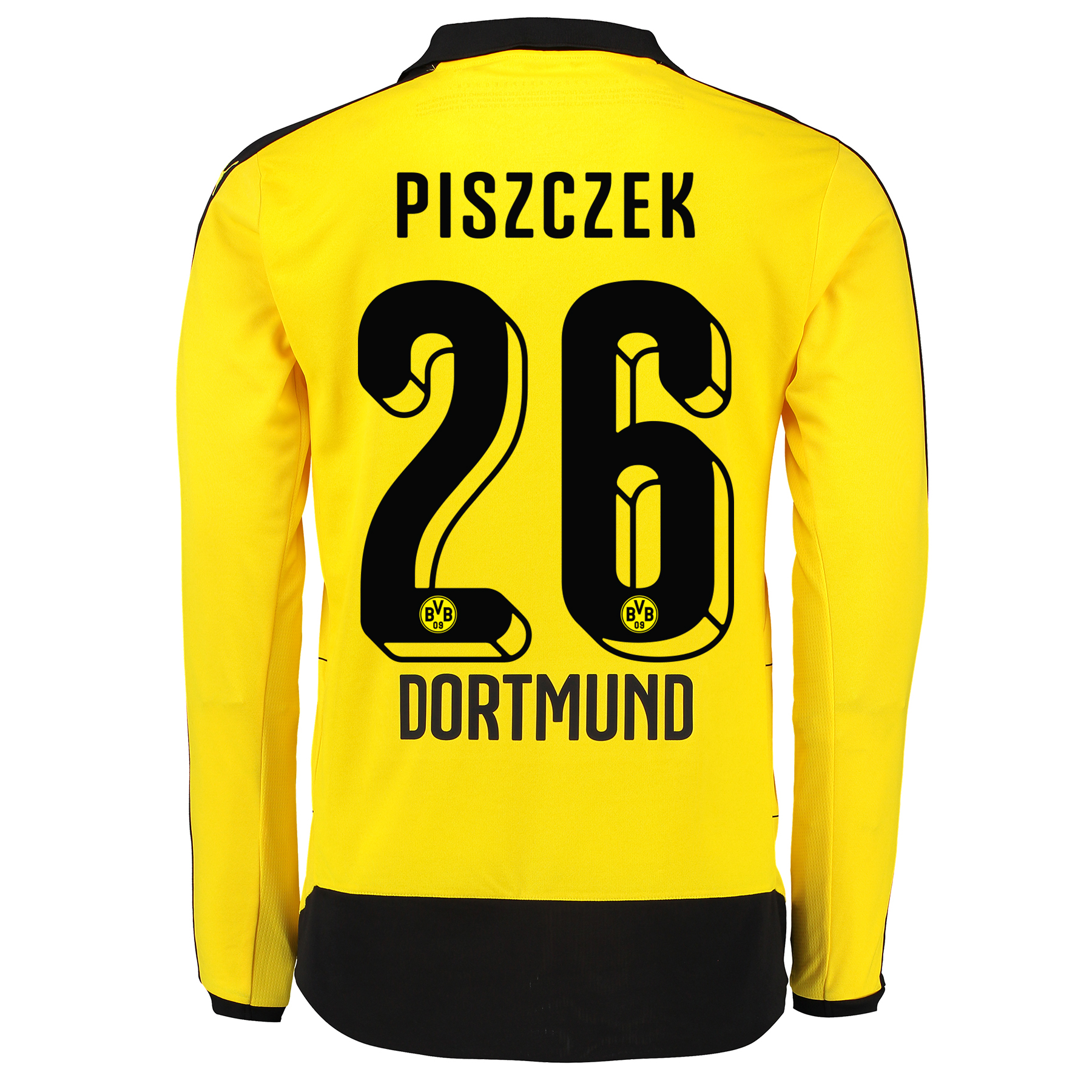 BVB Home Shirt 2015/16 – Long Sleeve – Kids Yellow with Piszczek 26 pr