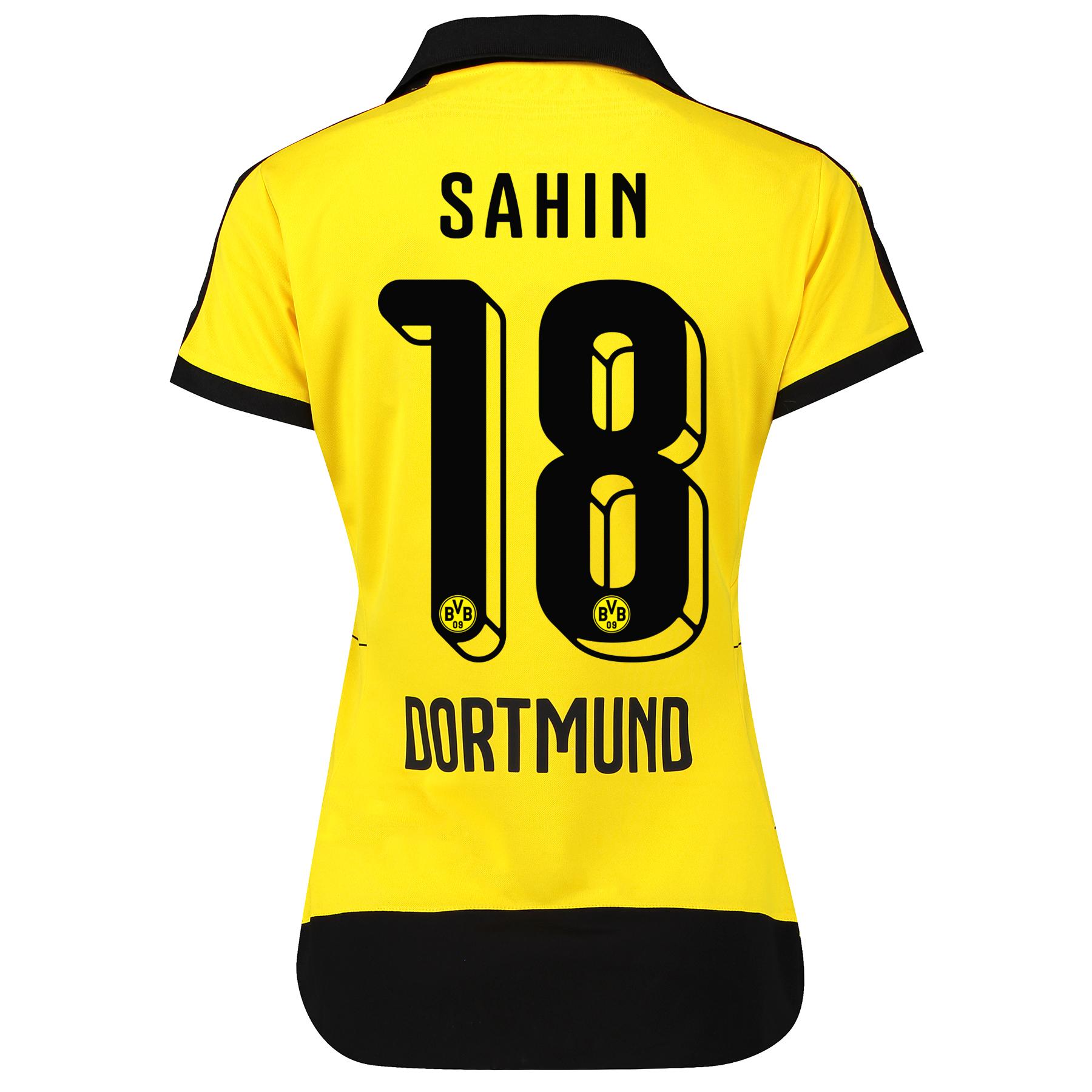 BVB Home Shirt 2015/16 – Womens with Sponsor Yellow with Sahin 18 prin