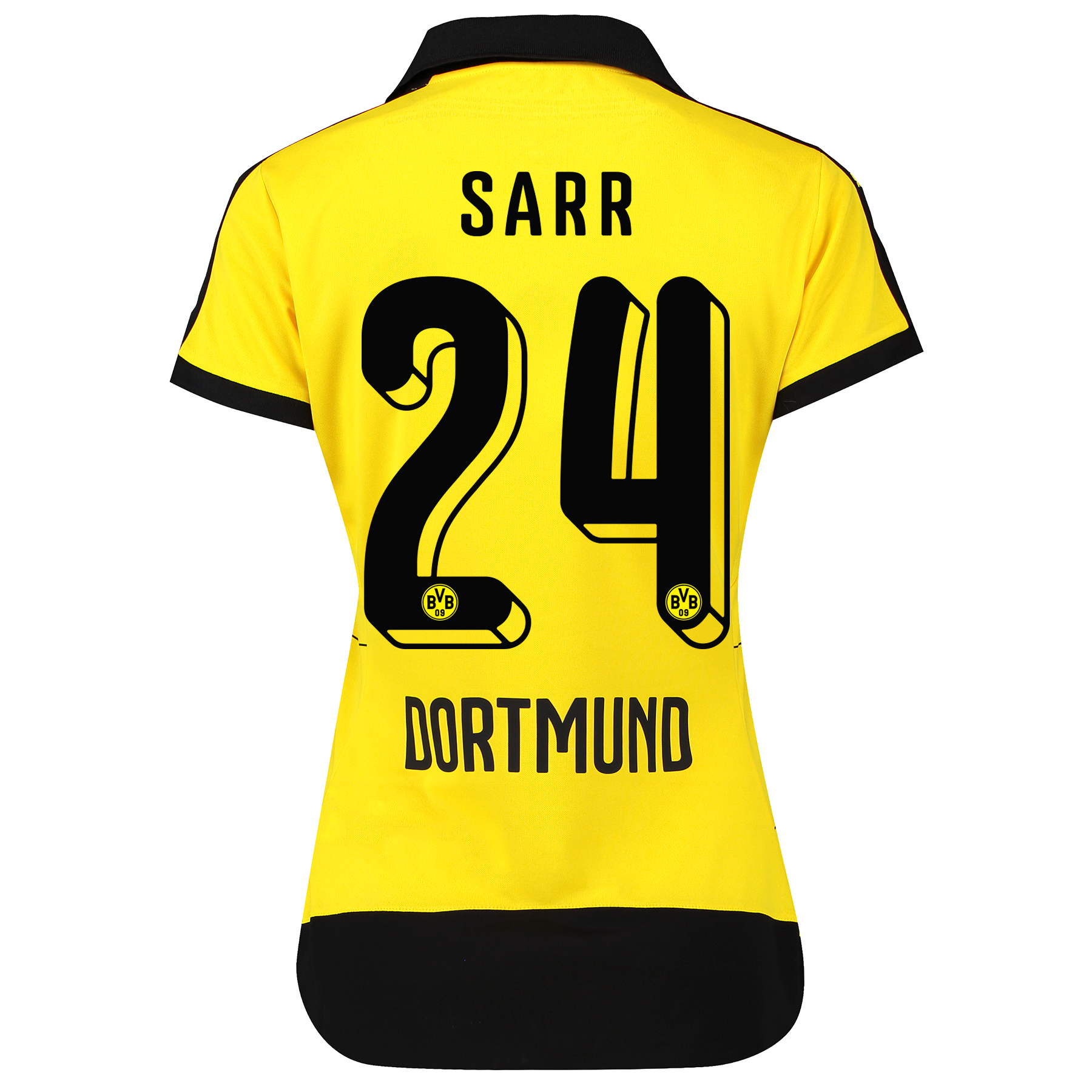 BVB Home Shirt 2015/16 – Womens with Sponsor Yellow with Sarr 24 print