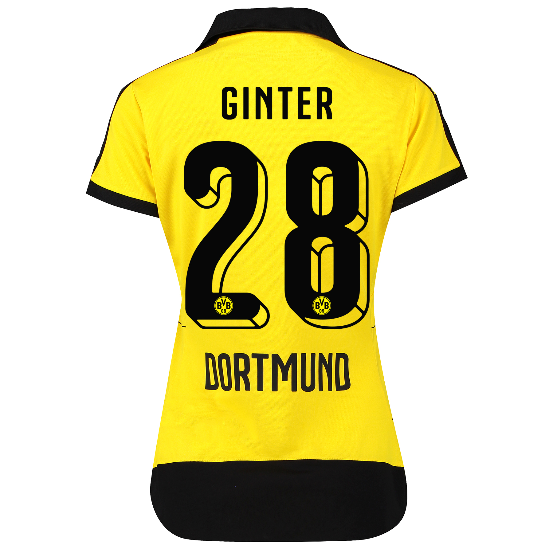 BVB Home Shirt 2015/16 - Womens with Sponsor Yellow with Matthias Gint