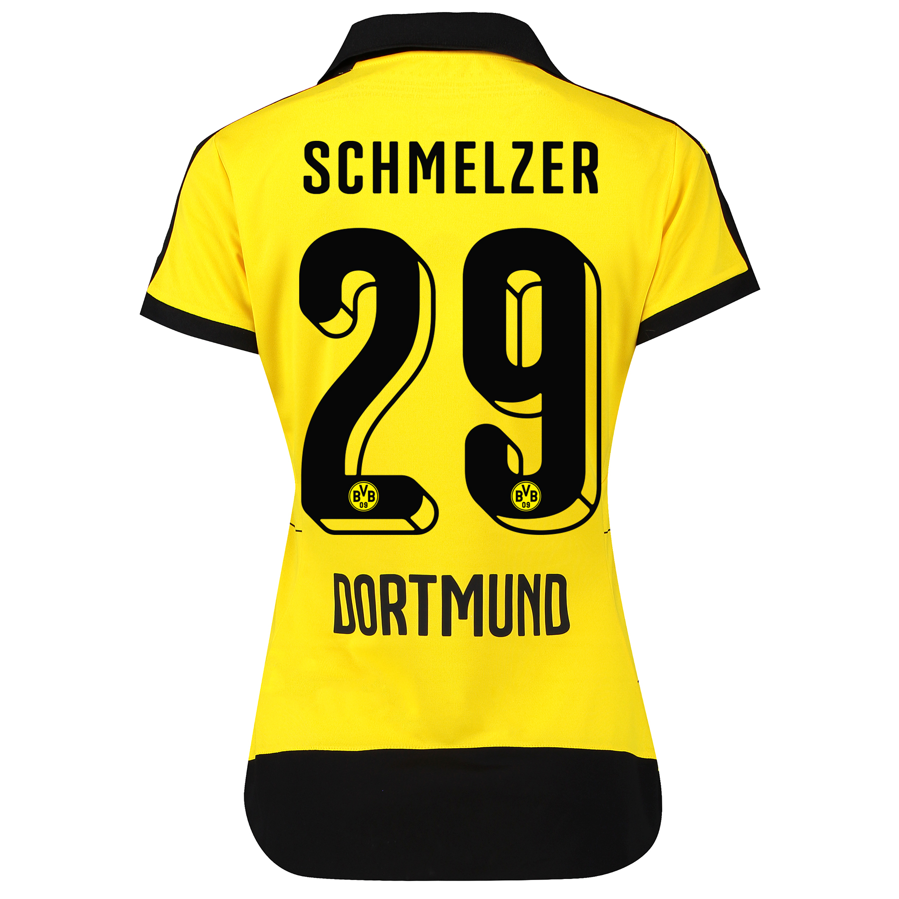 BVB Home Shirt 2015/16 – Womens with Sponsor Yellow with Schmelzer 29